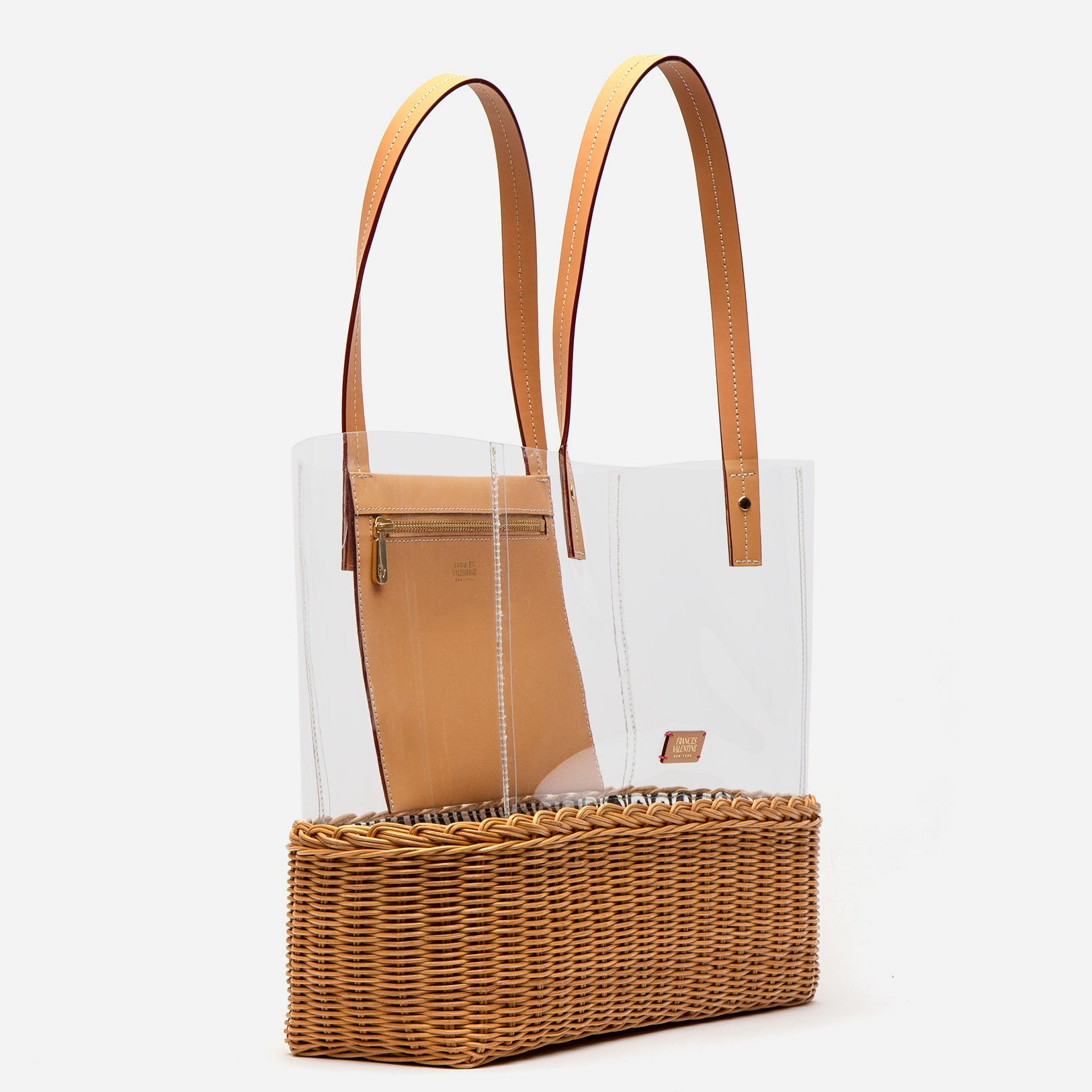 Large Margaret PVC Wicker Clear Tote
