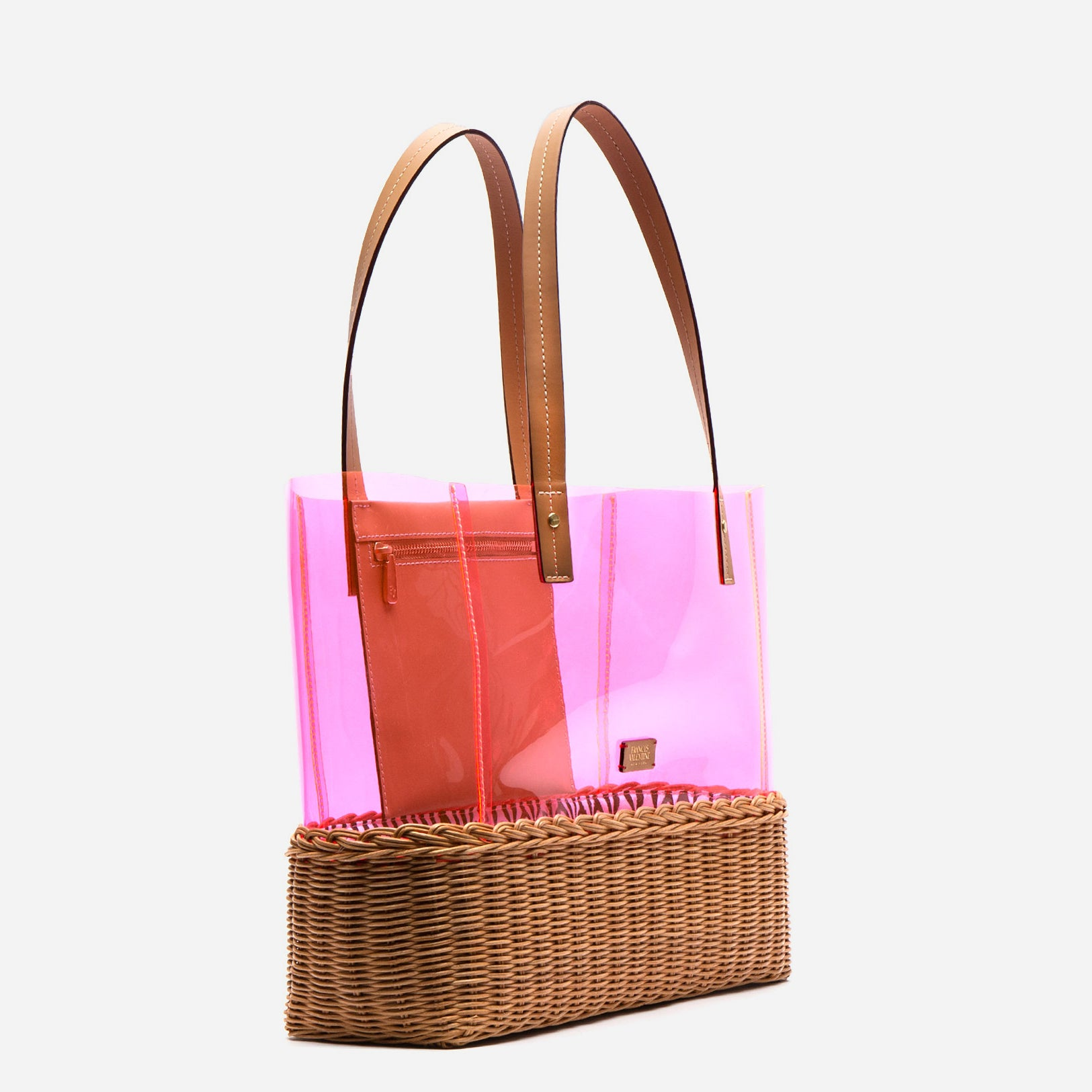 Large Margaret PVC Wicker Pink Tote