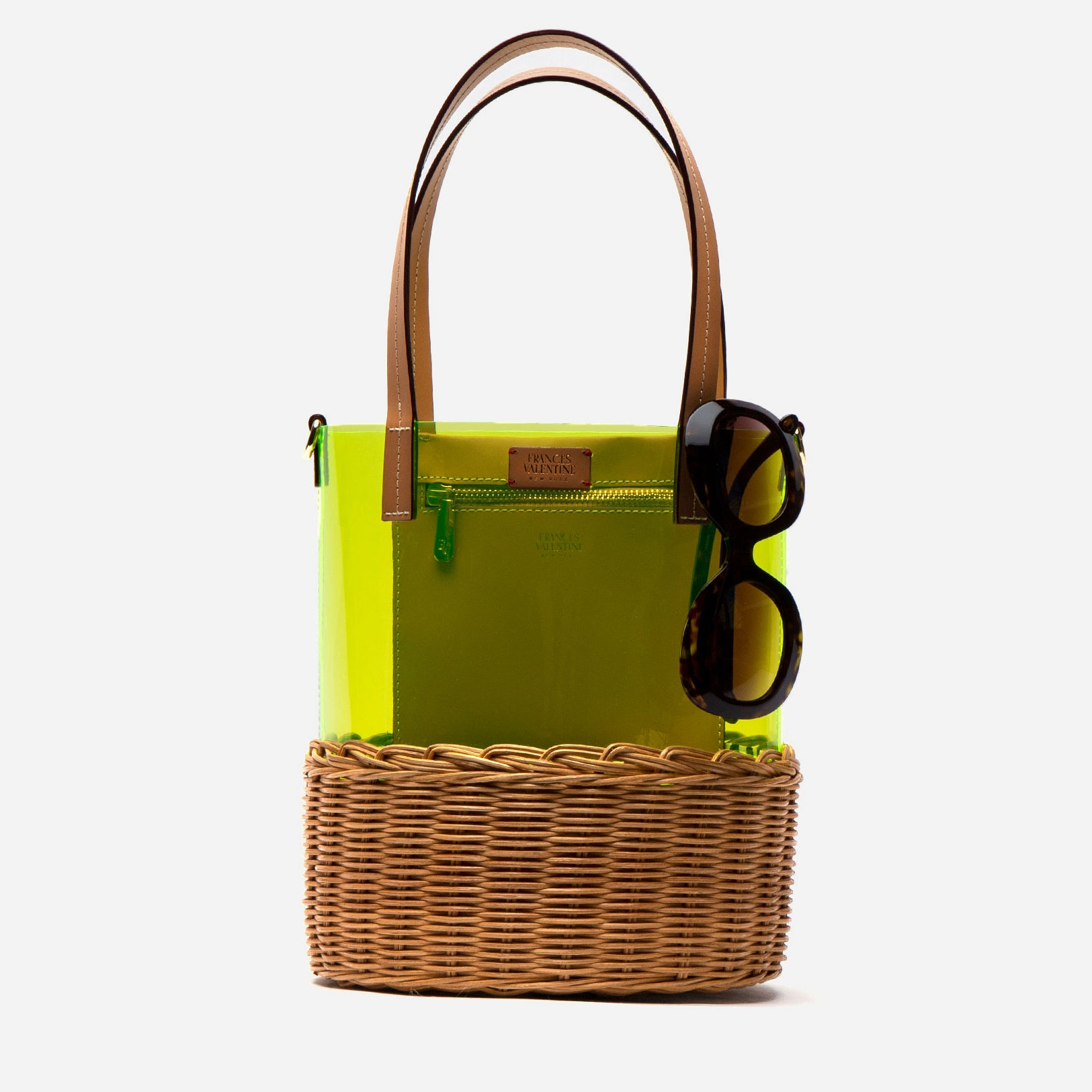 Large PVC Wicker Bucket Yellow