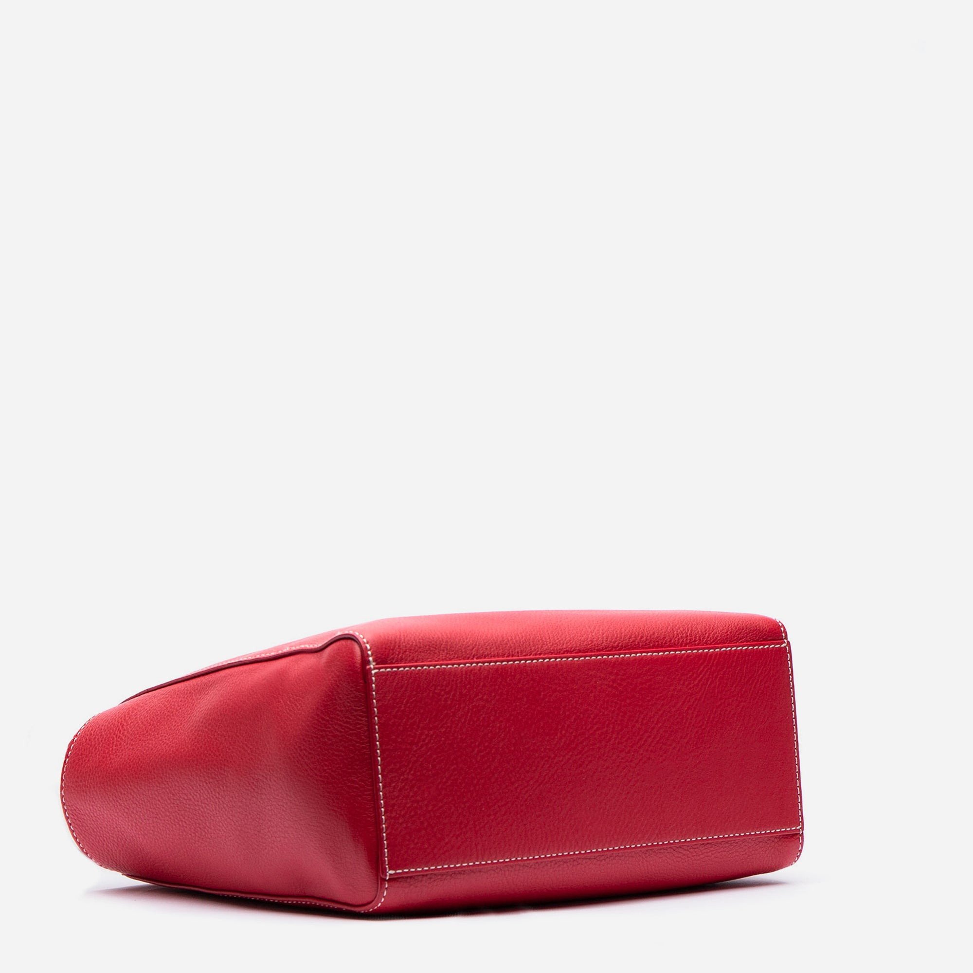 Small Henry Tumbled Leather Red