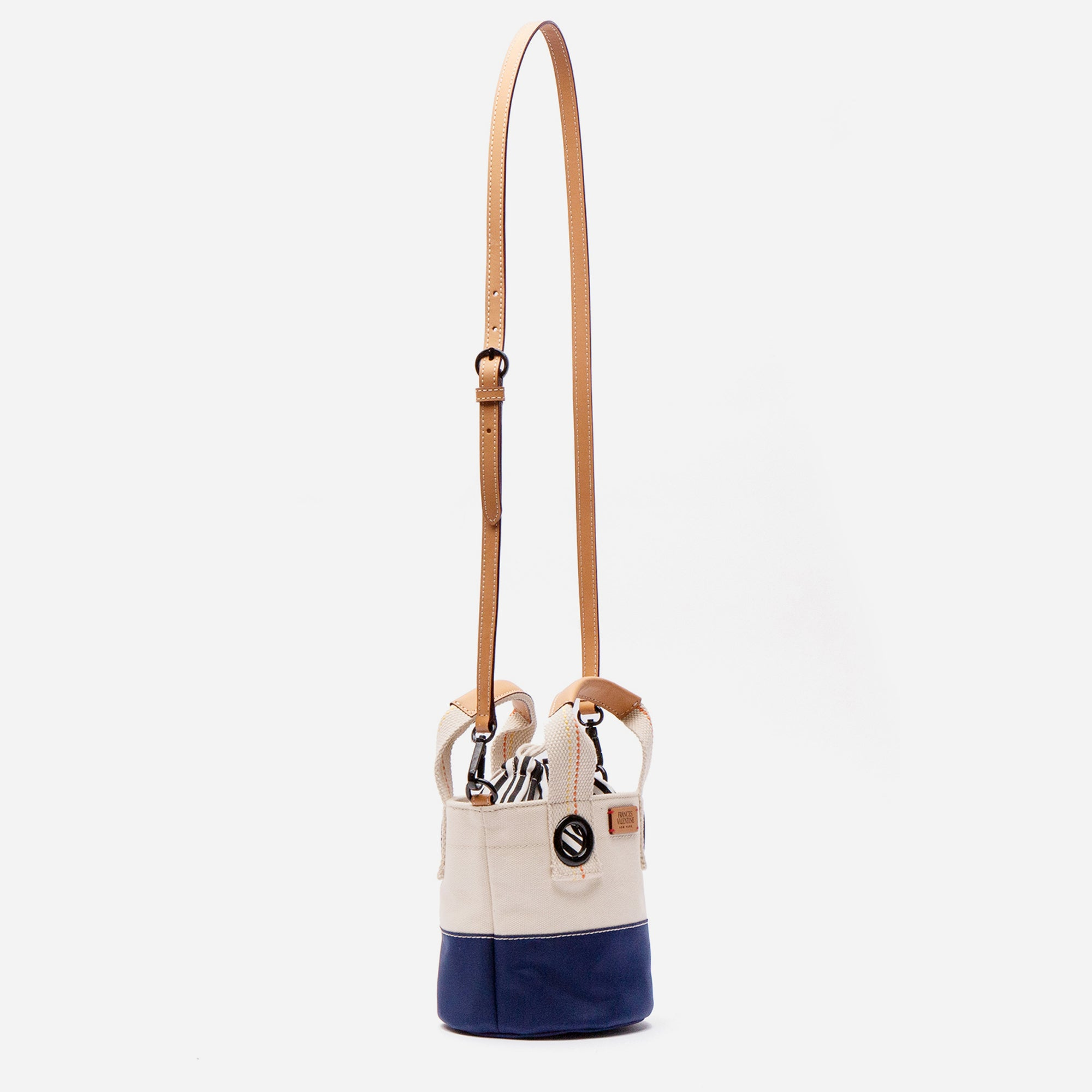 Small Colorblock Bucket Natural Navy
