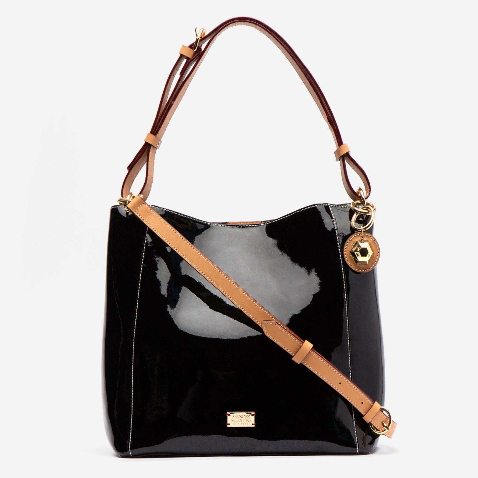 June Hobo Handbag Black Patent