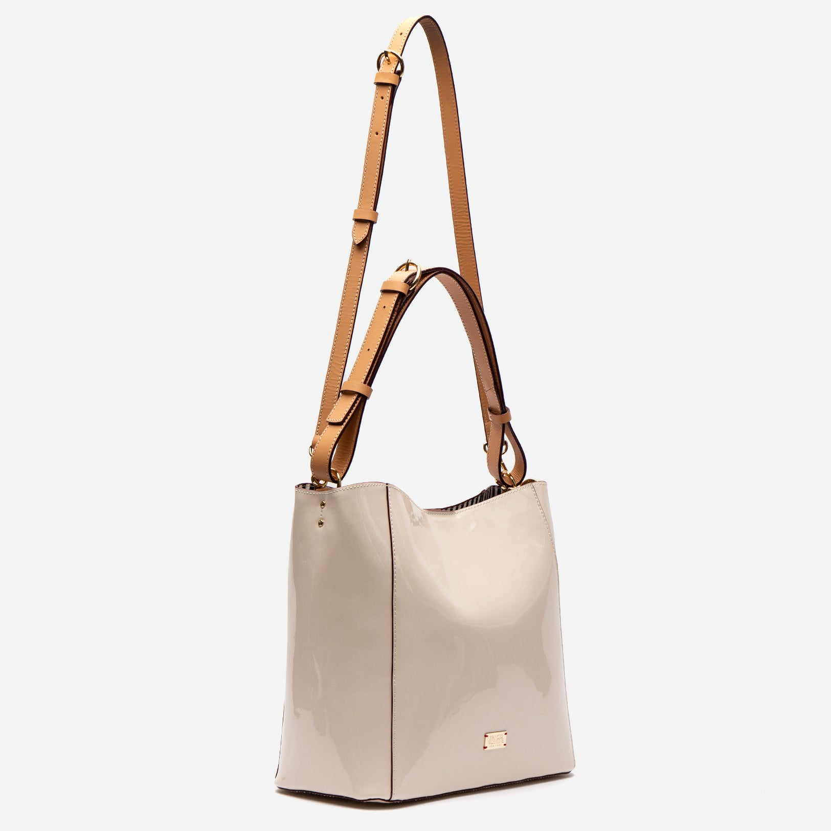 June Hobo Handbag Oyster Patent