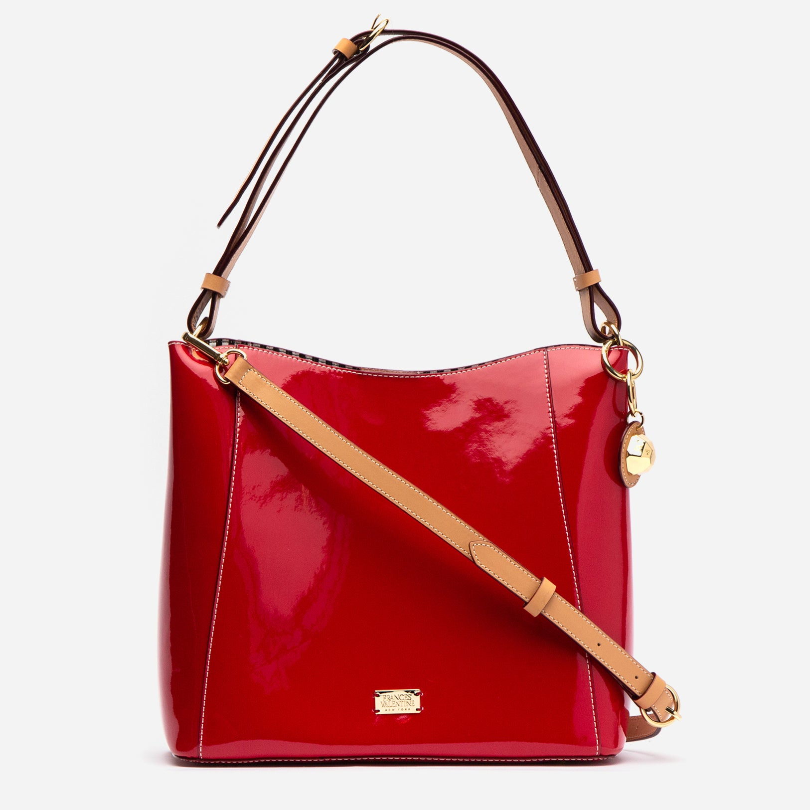 June Hobo Handbag Red Patent