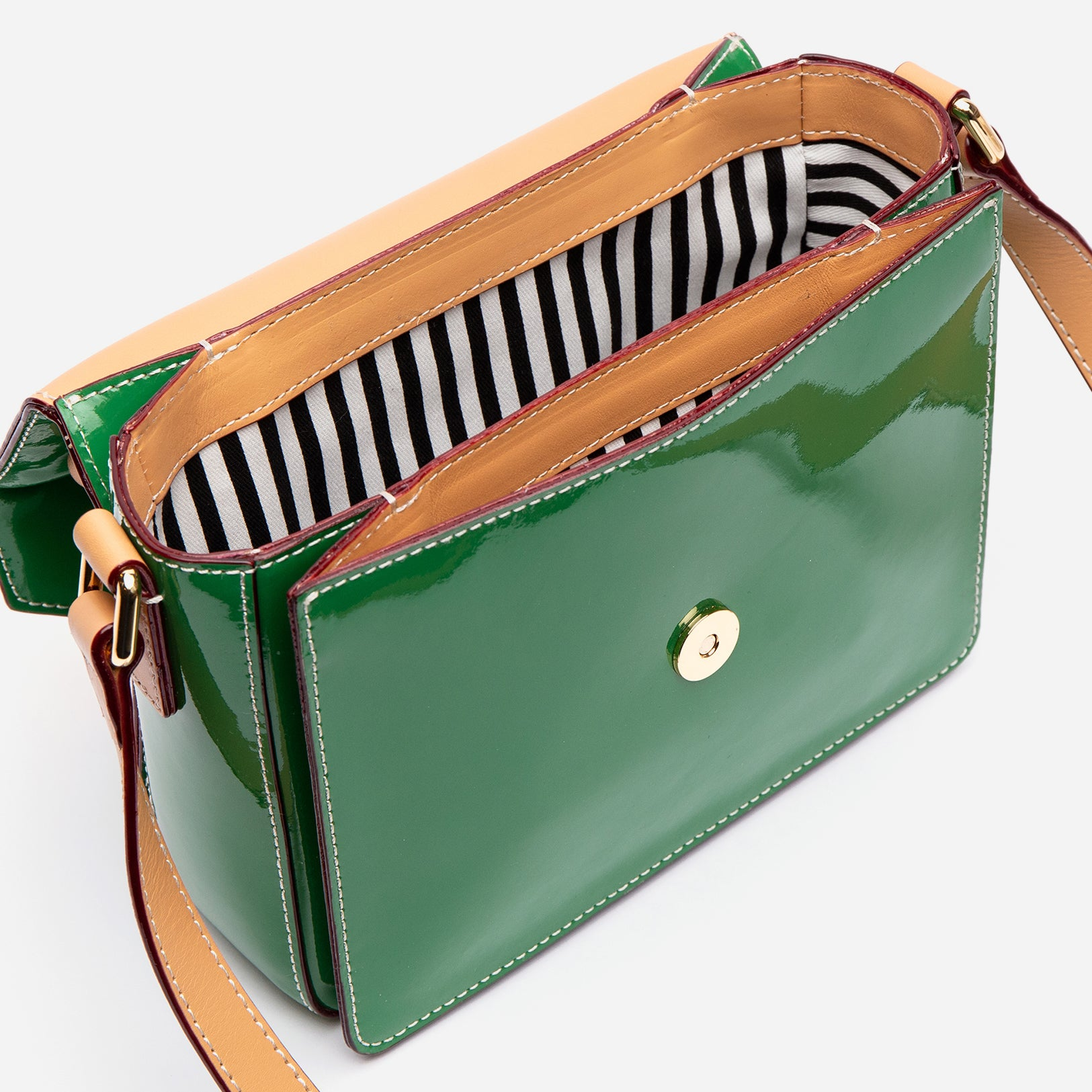 Mini Midge Patent Leather Green Ray