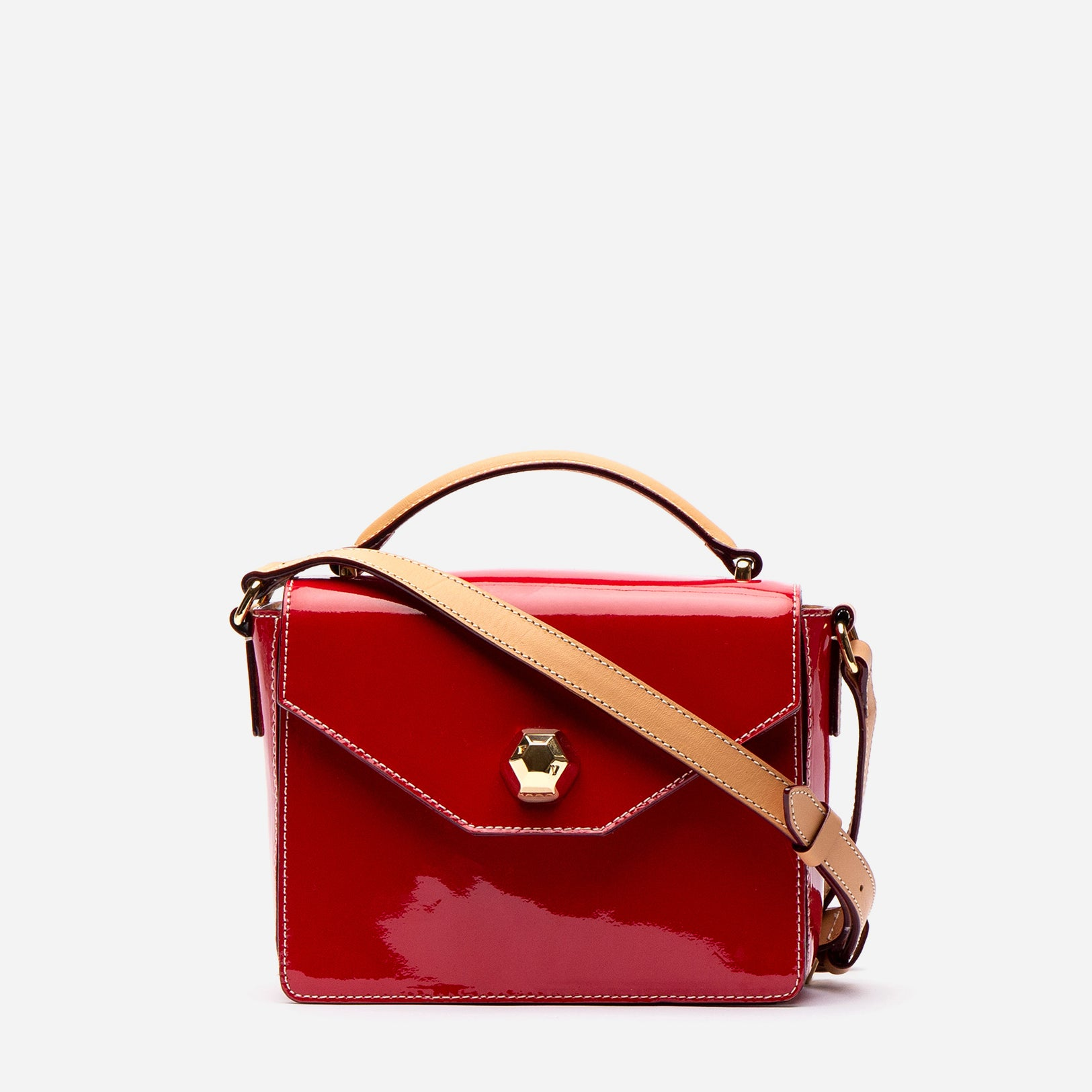 Mini Midge Patent Leather Red