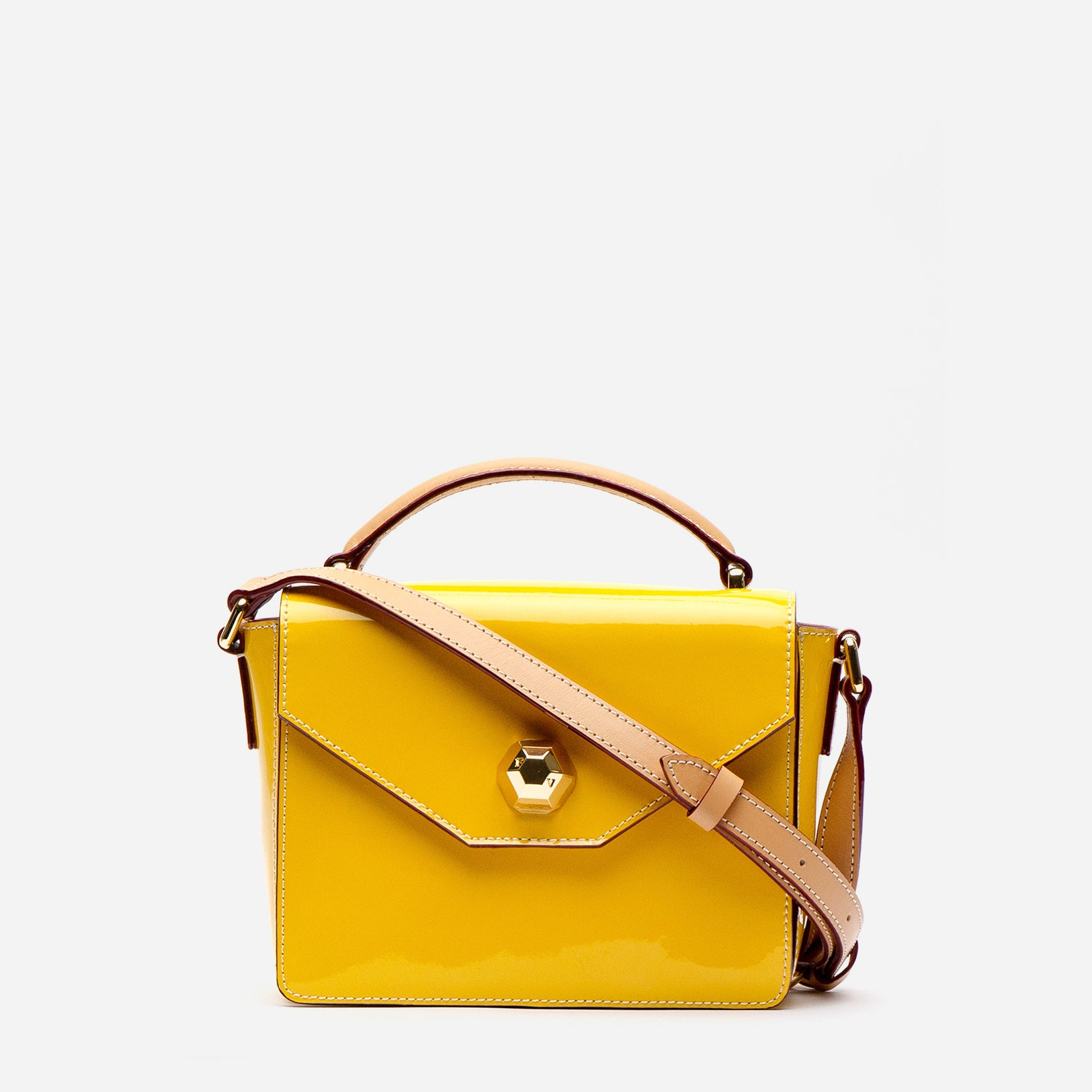 Mini Midge Patent Leather Canary - Frances Valentine