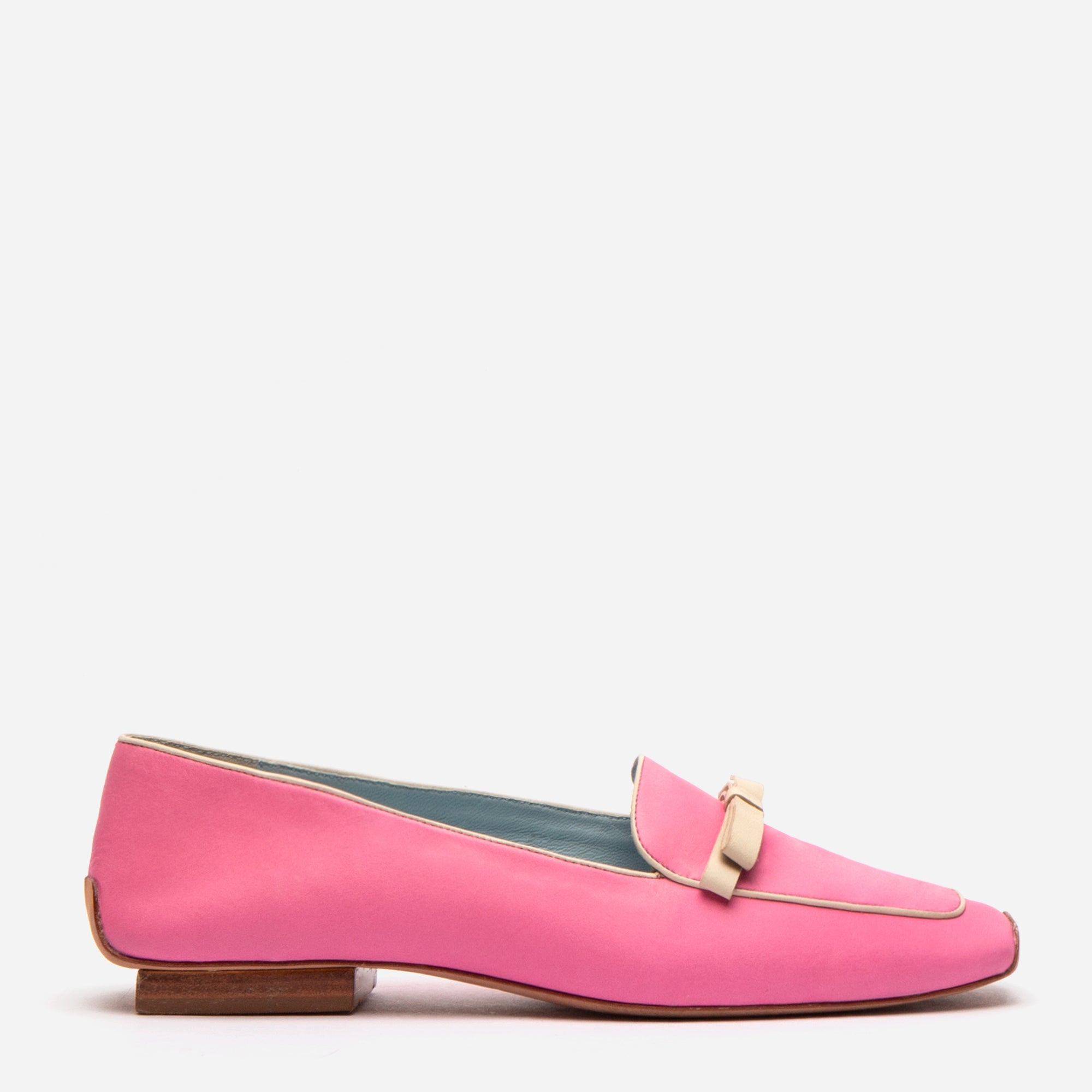 Suzanne Loafer Leather Pink Oyster - Frances Valentine