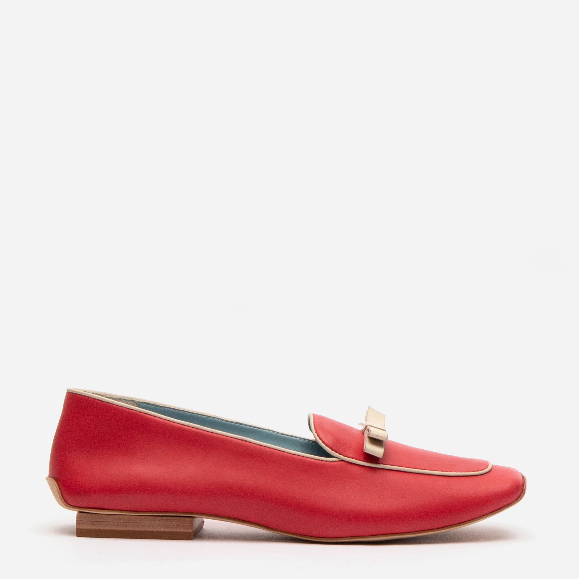 Suzanne Loafer Leather Red Oyster - Frances Valentine