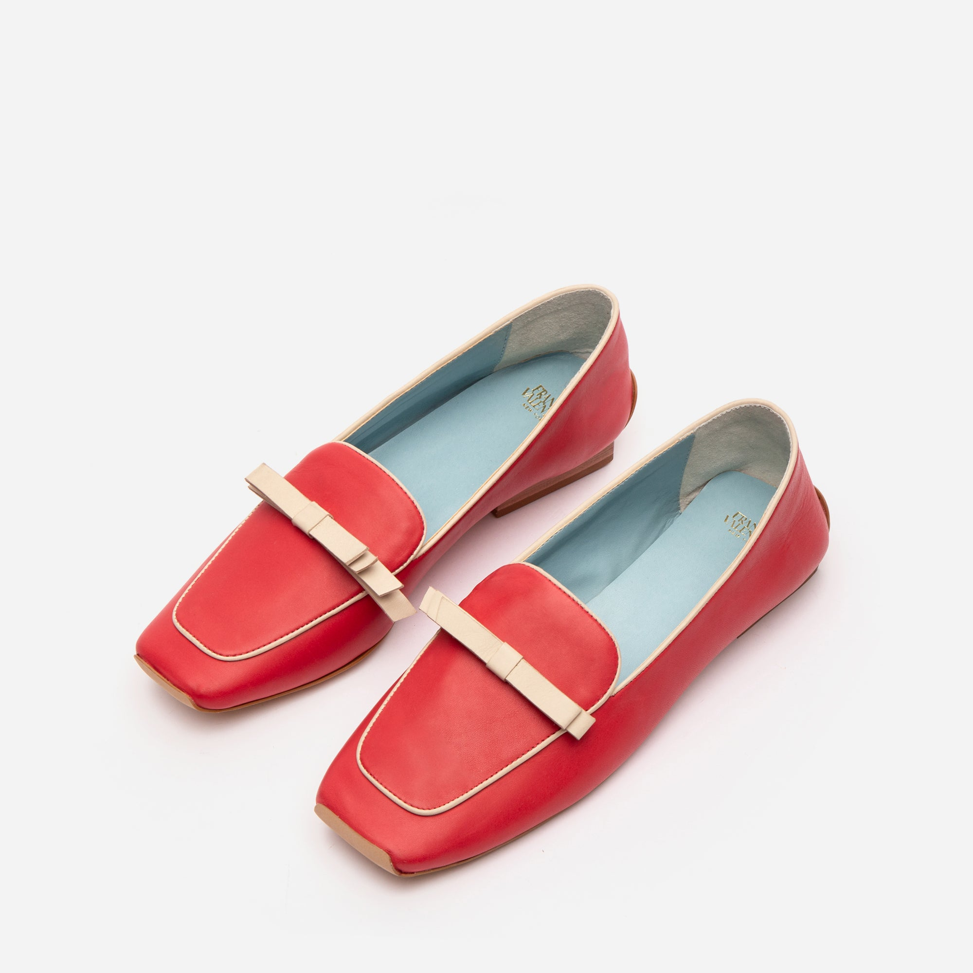 Suzanne Loafers Leather Red Oyster