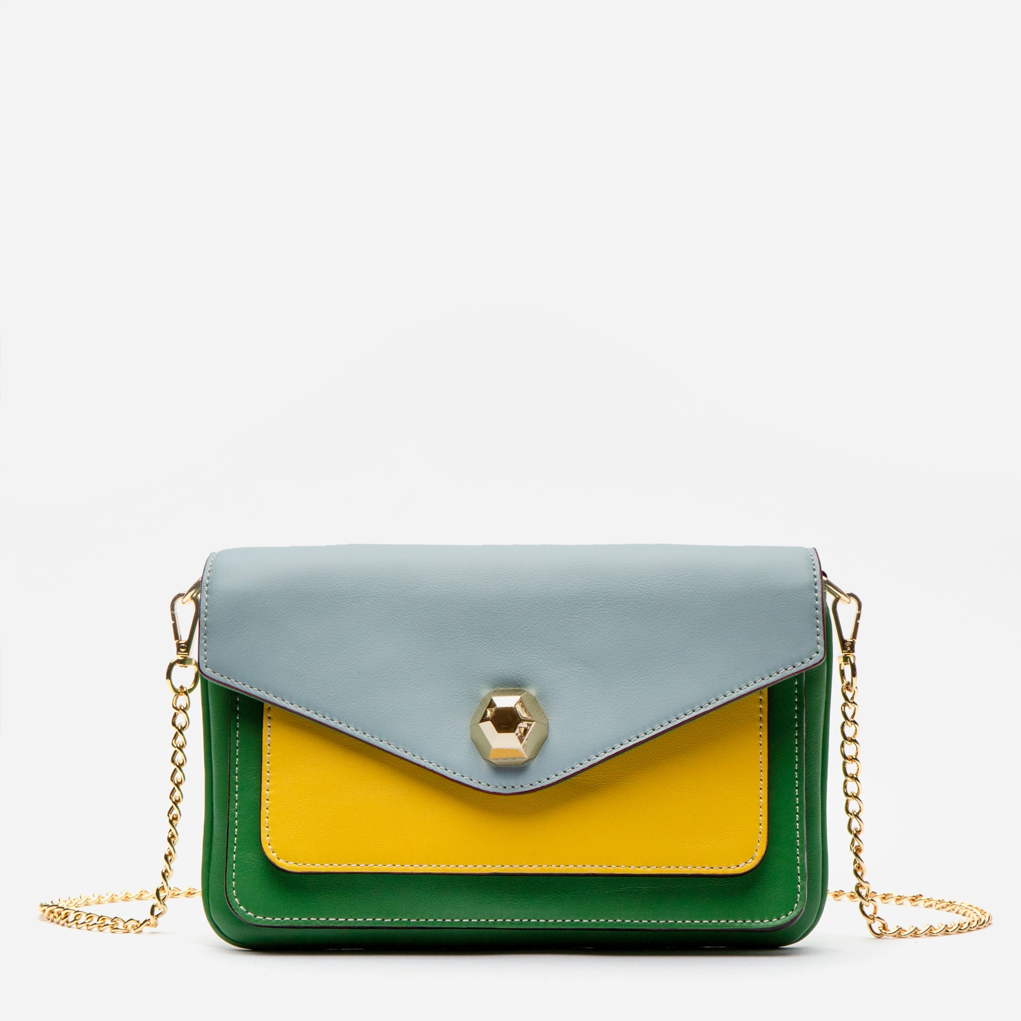 Tess Envelope Clutch Green Multi