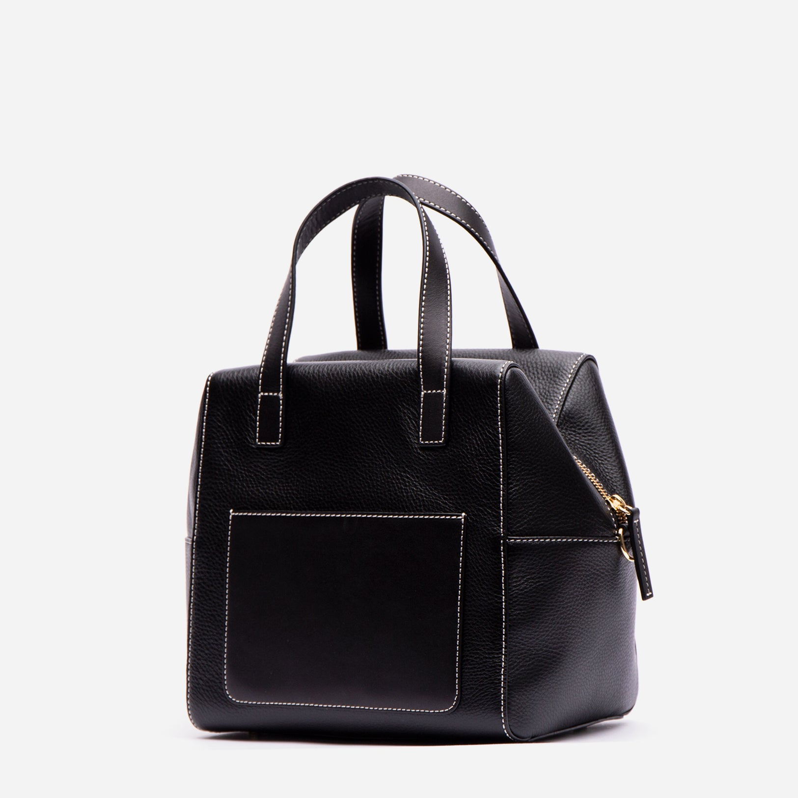 Sabrina Satchel Tumbled Leather Black