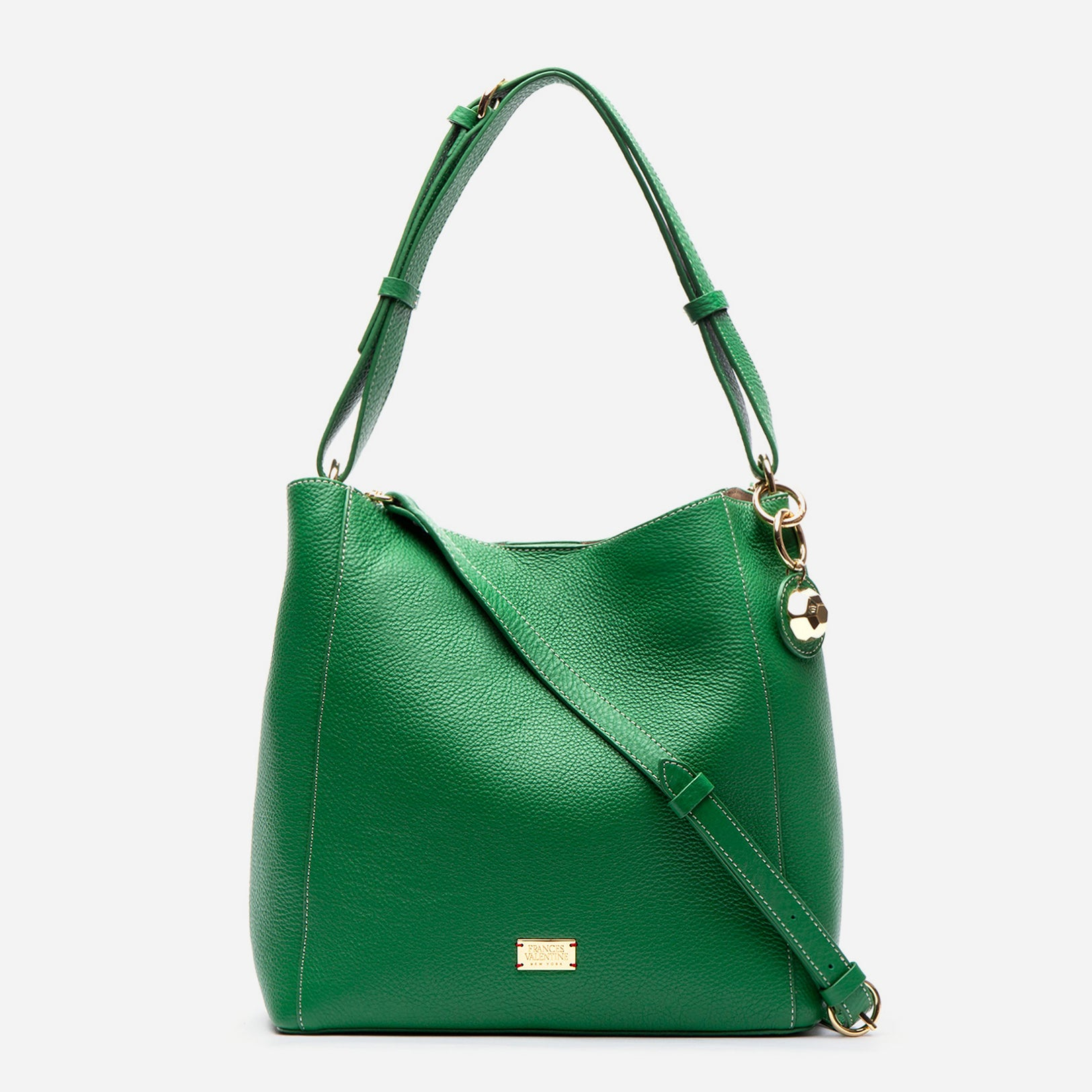 June Hobo Handbag Leather Green