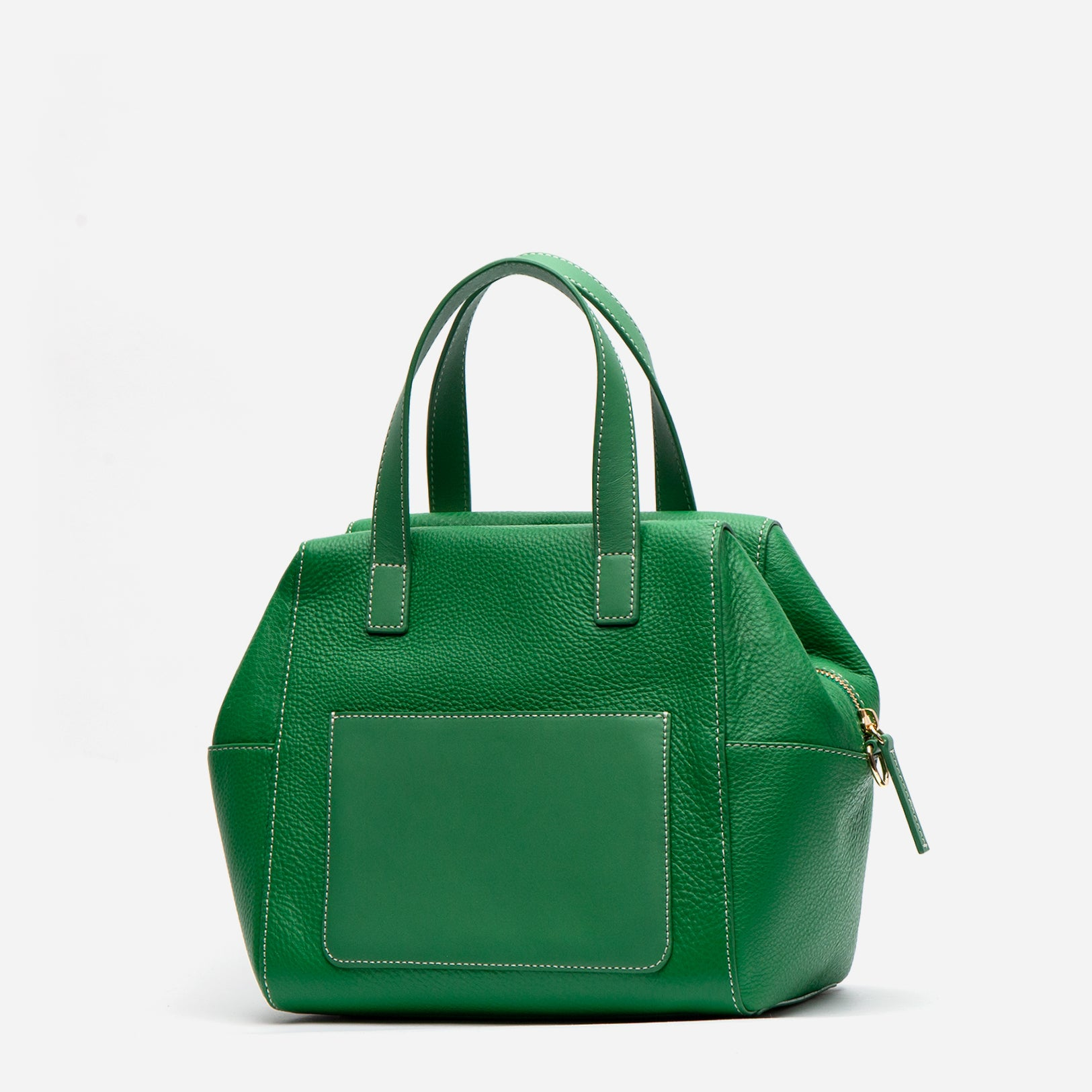 Sabrina Satchel Tumbled Leather Grass