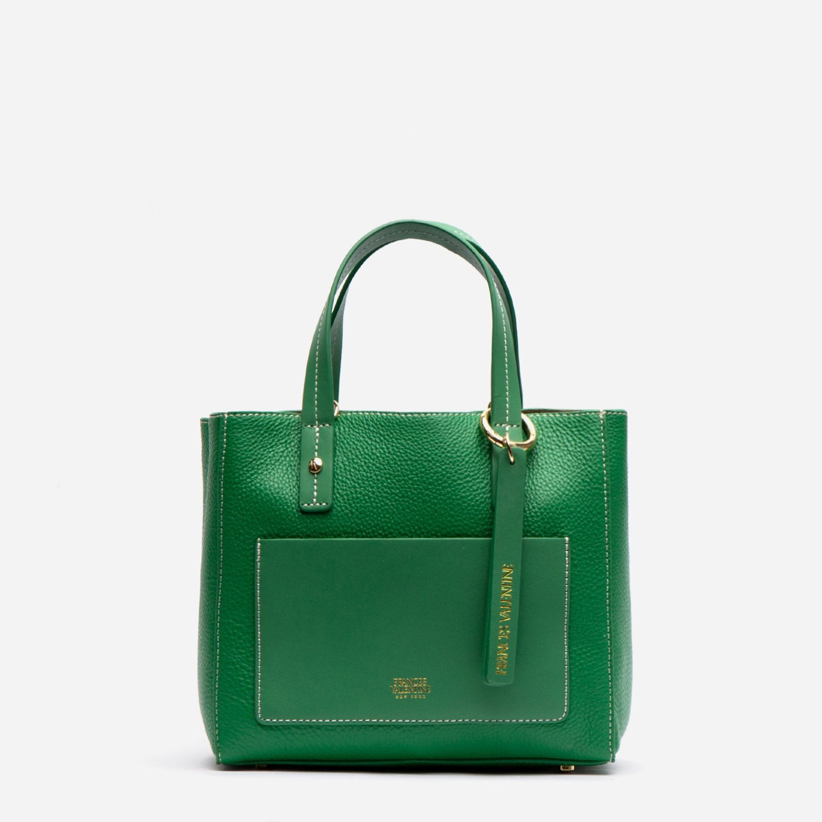 Small Chloe Tumbled Leather Green - Frances Valentine