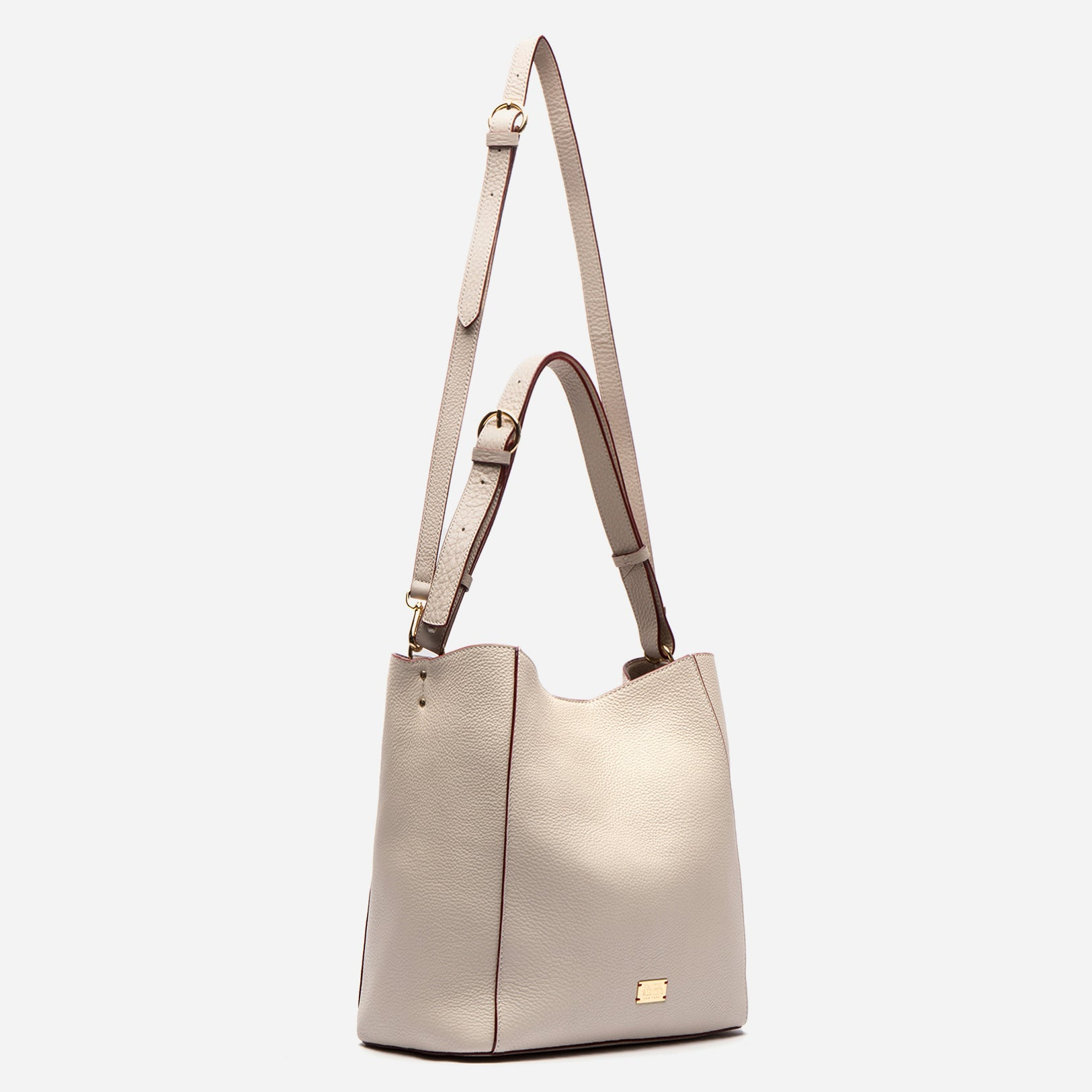 June Hobo Handbag Leather Oyster