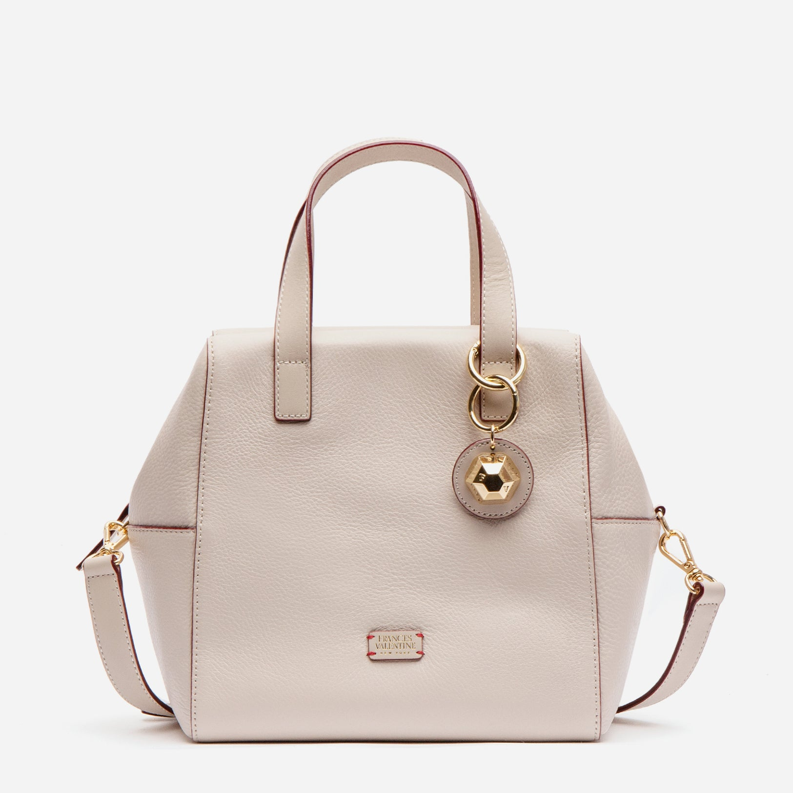 Sabrina Satchel Tumbled Leather Oyster