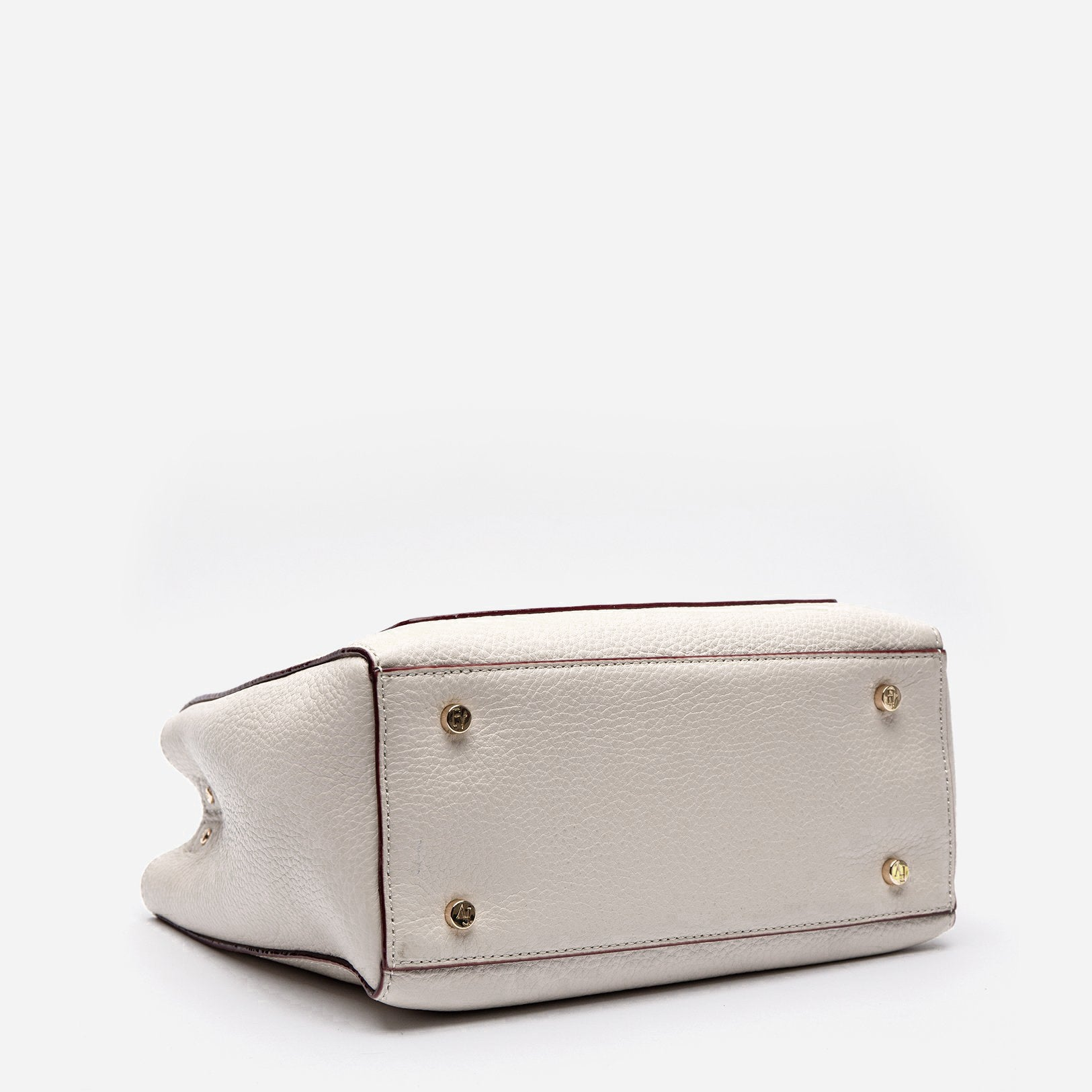 Small Chloe Tumbled Leather Oyster