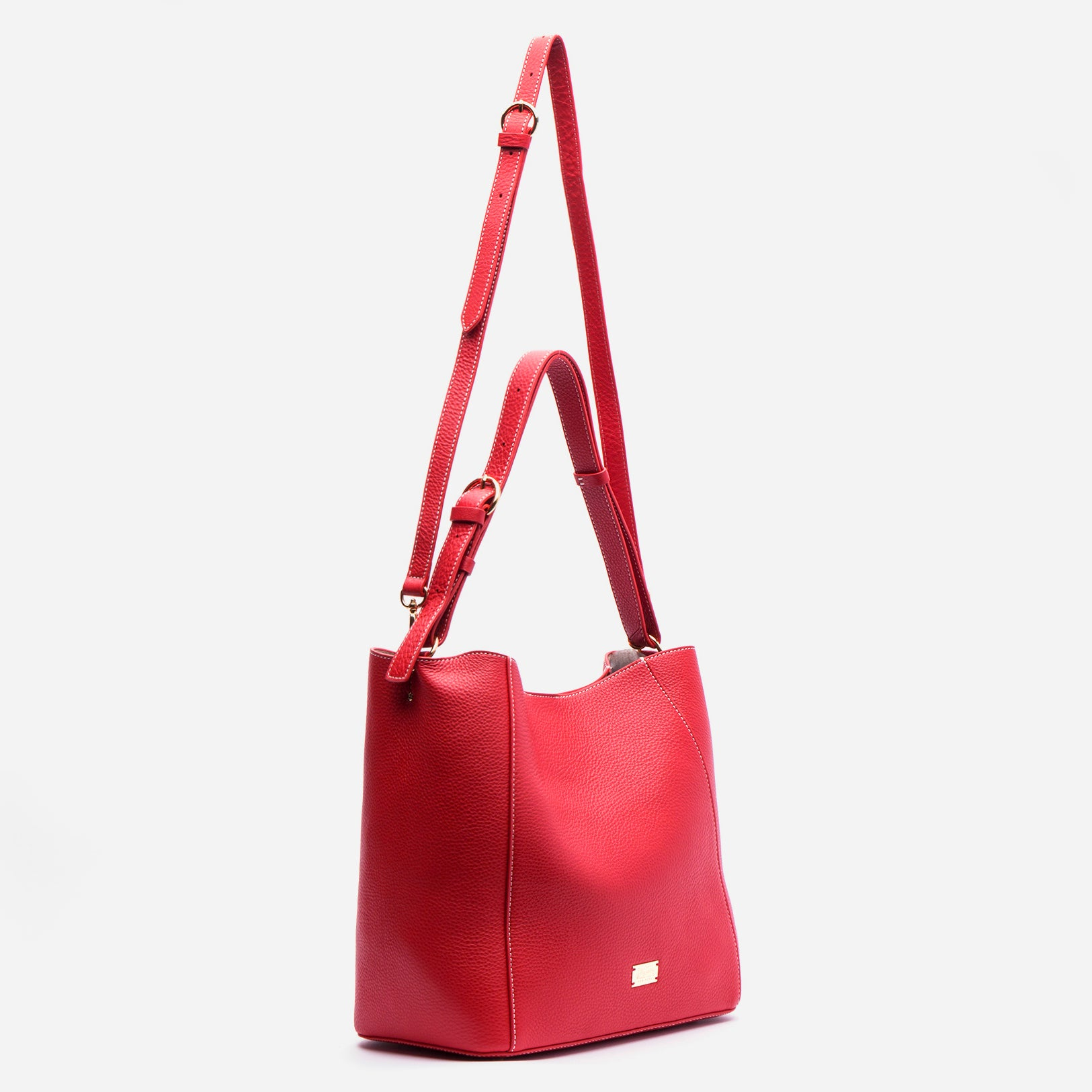 June Hobo Handbag Leather Red