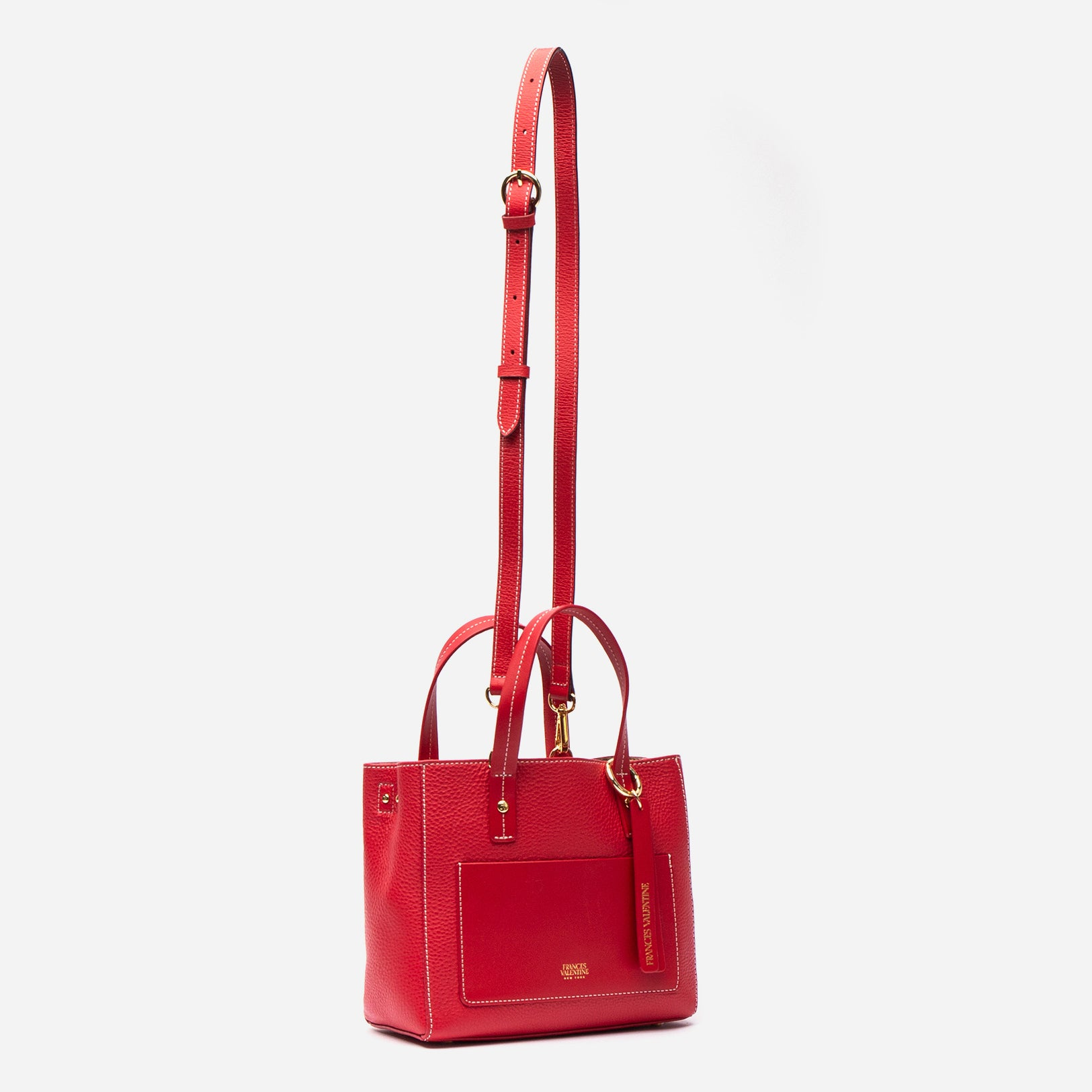 Small Chloe Tumbled Leather Red