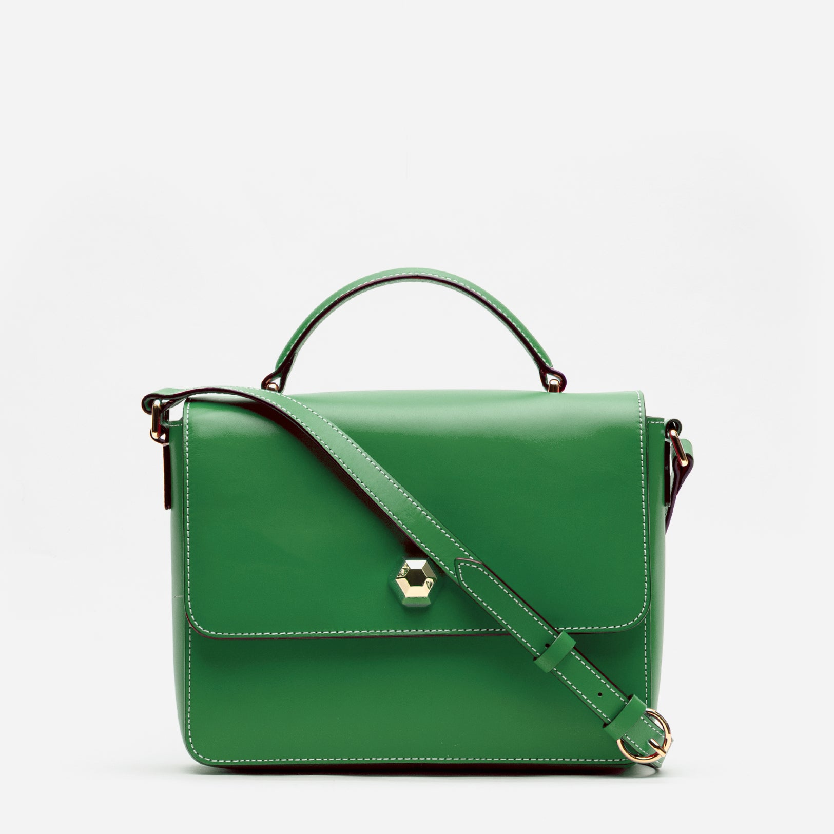 Midge Satchel Vachetta Leather Green Ray