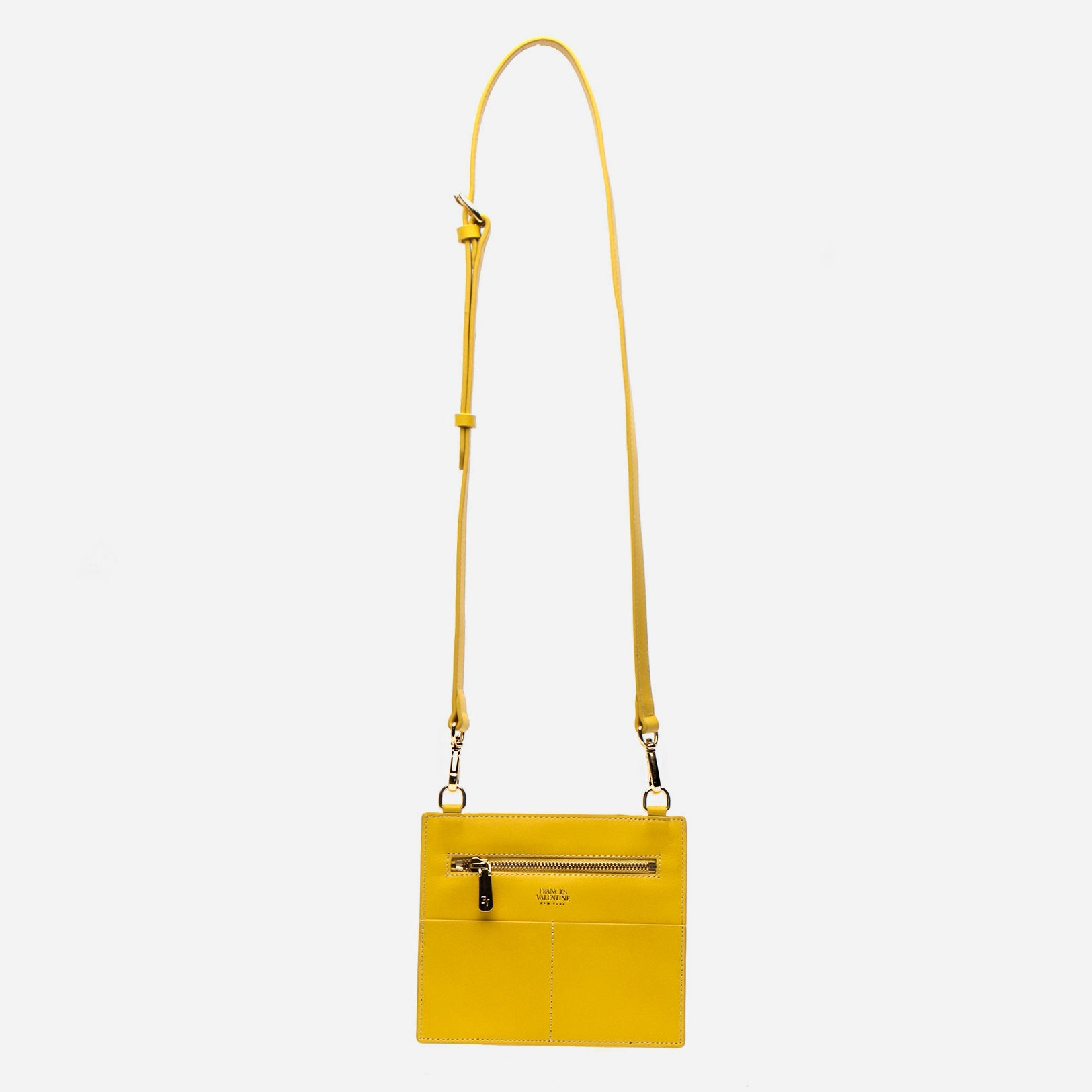 Small Chloe Tumled Leather Canary