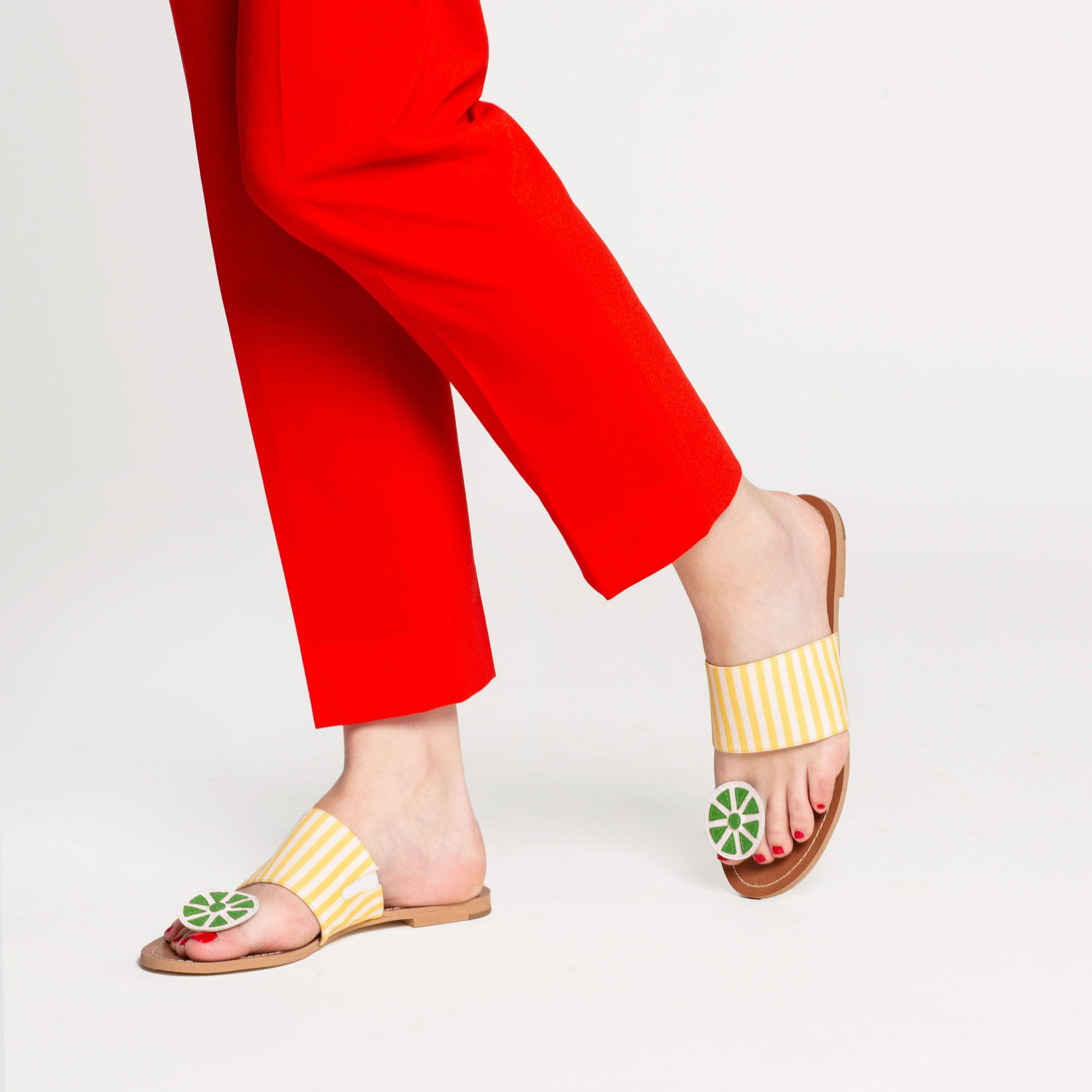 Clementine Citrus Sandal Black Yellow