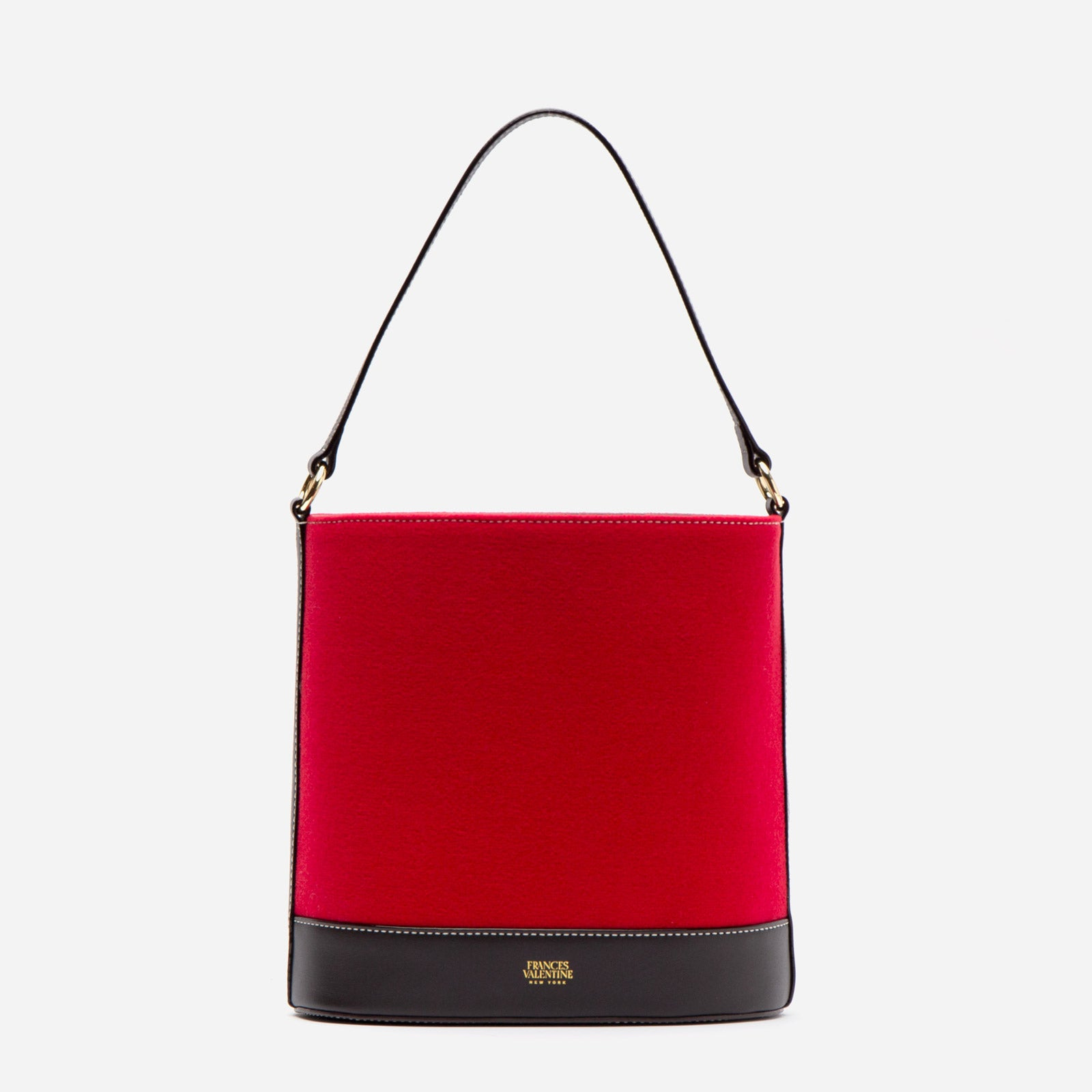 Stella Slim Bucket Felt Red - Frances Valentine