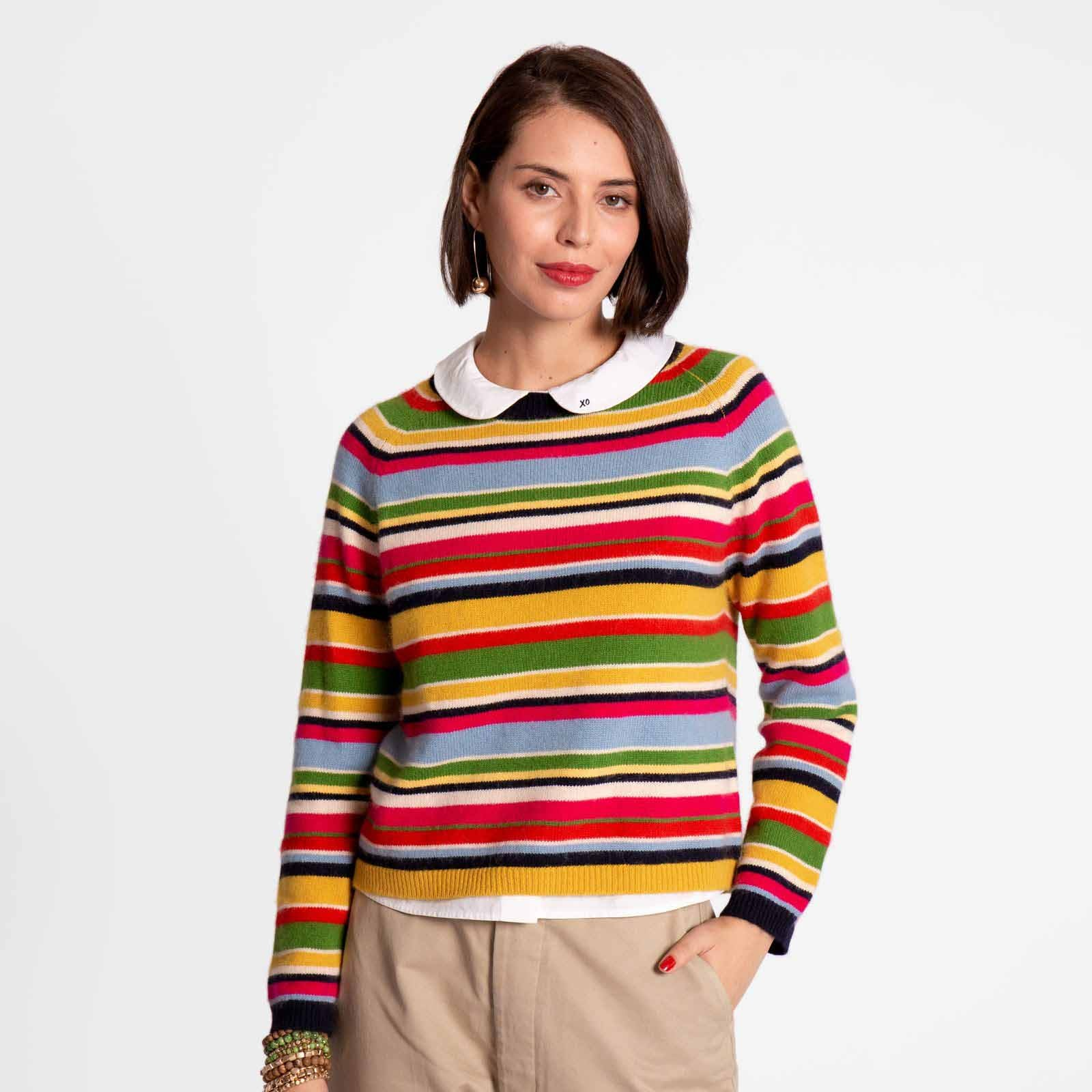 James Multi Stripe Sweater