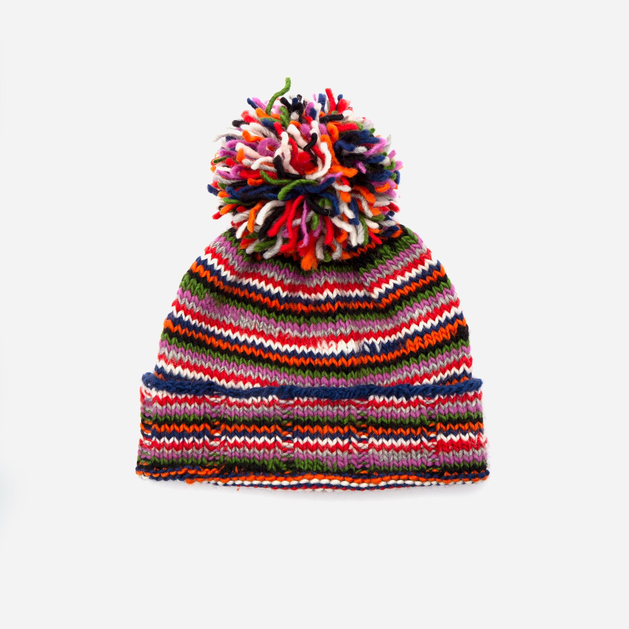 Multi Stripe Knit Hat - Frances Valentine