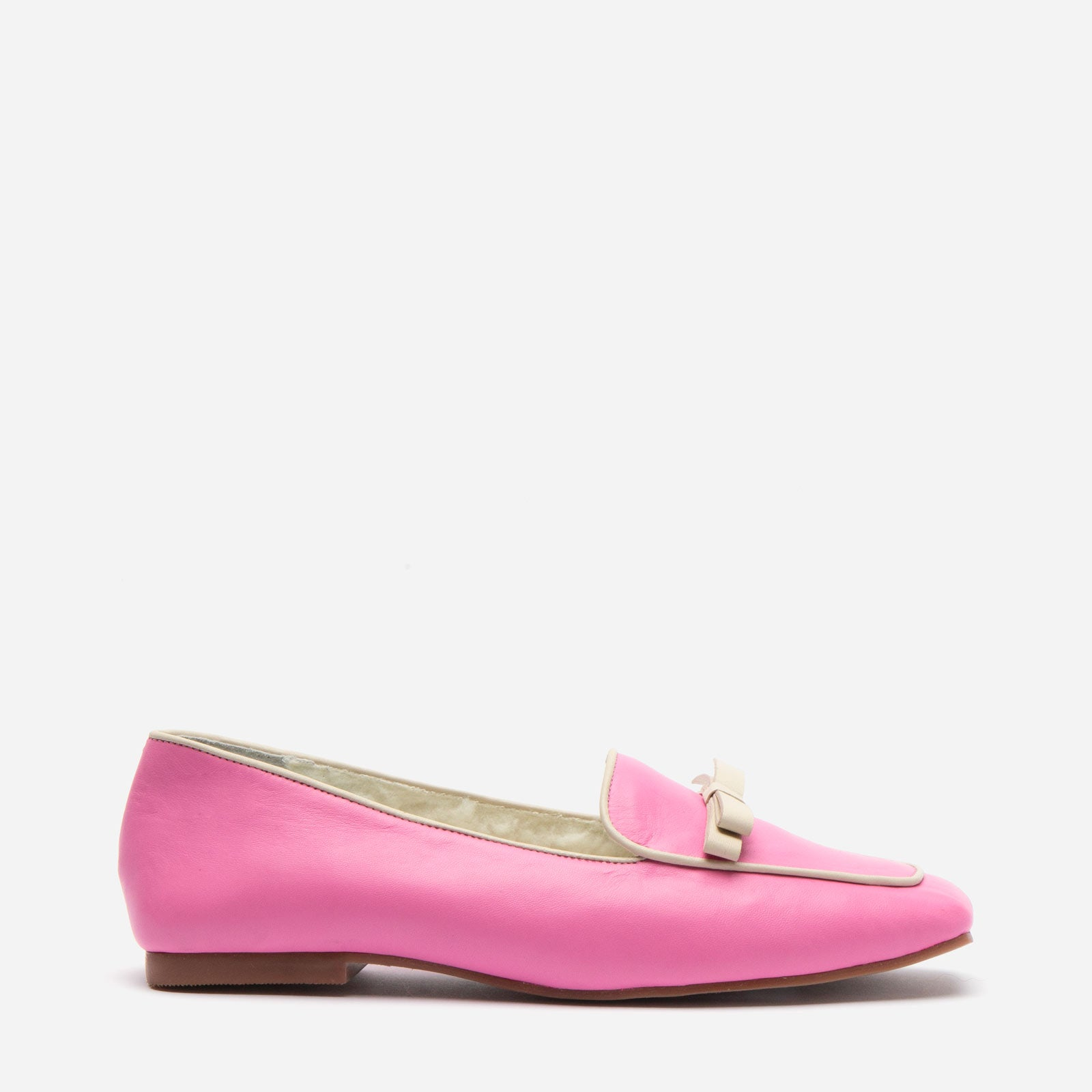 Suzanne Cozy Loafer Nappa Faux Shearling Pink - Frances Valentine