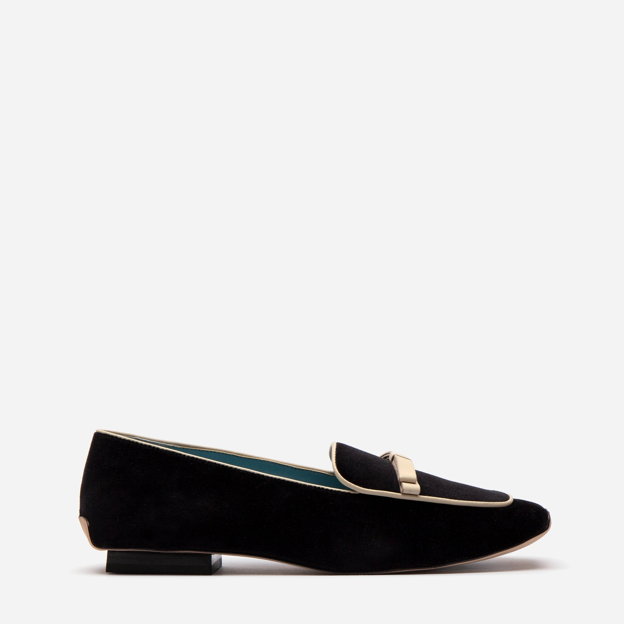 Suzanne Loafer Velvet Black Ivory