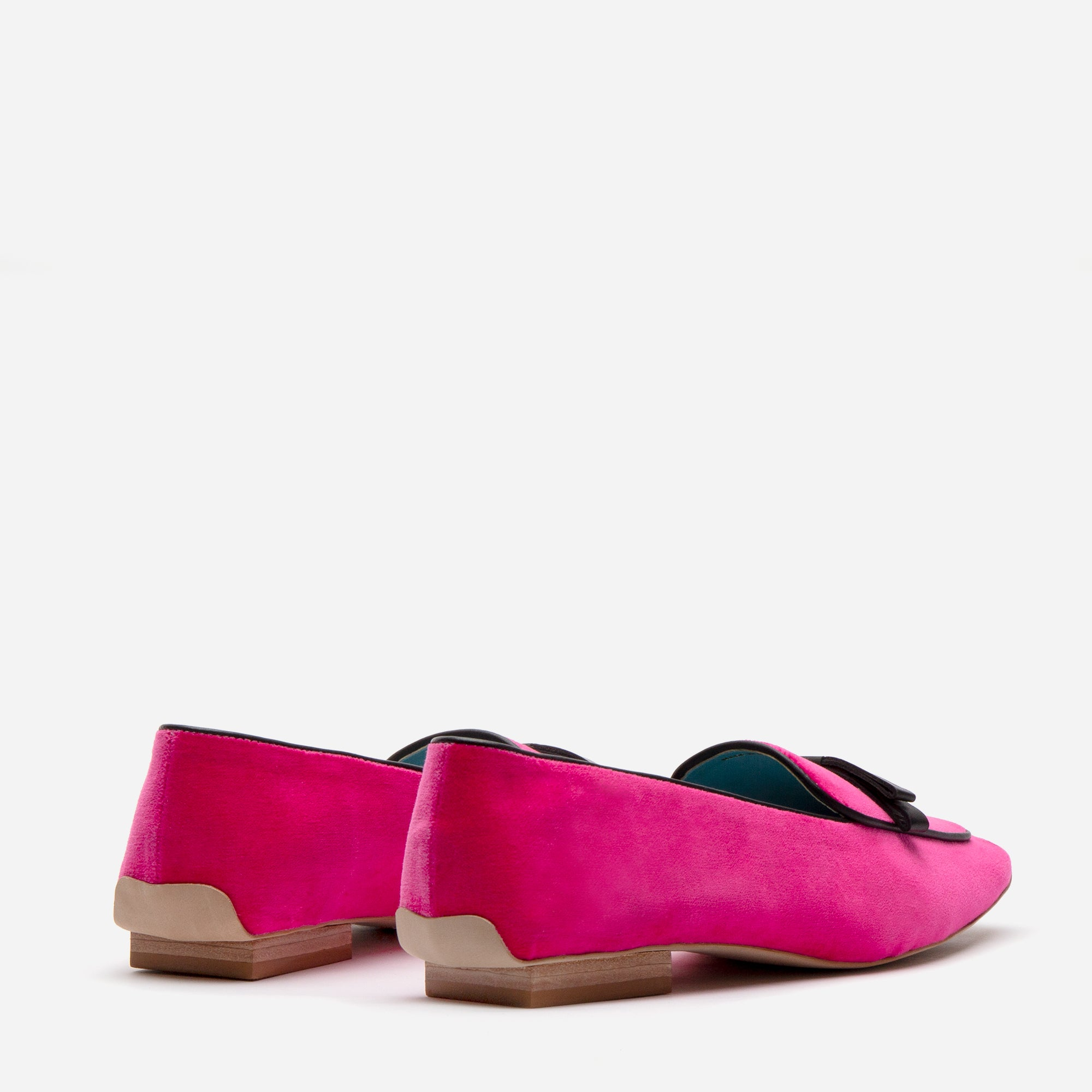 Suzanne Loafers Velvet Pink Black
