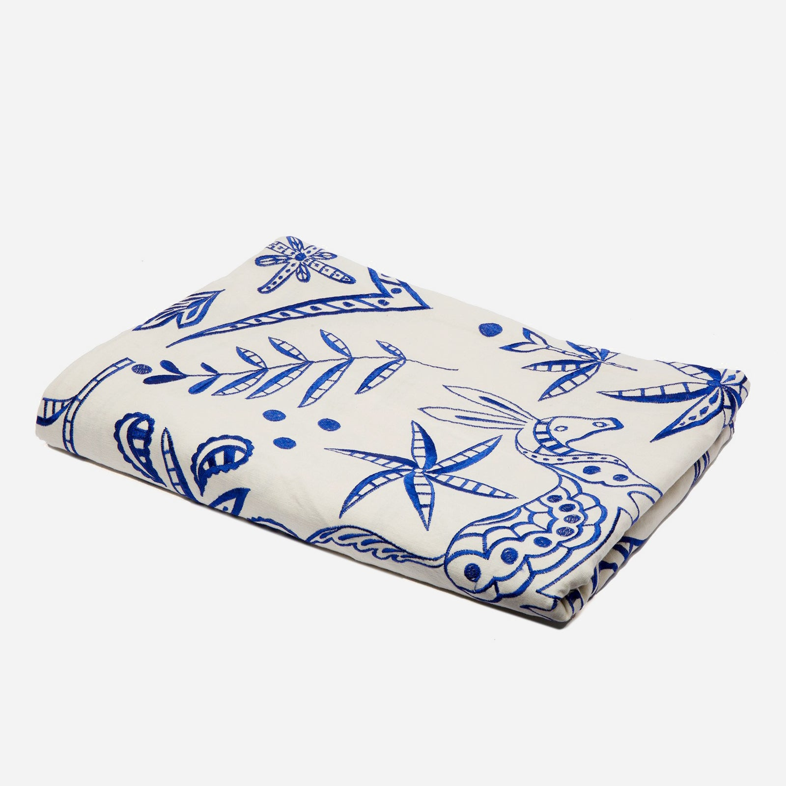 Embroidered Tablecloth Veracruz Navy - Frances Valentine