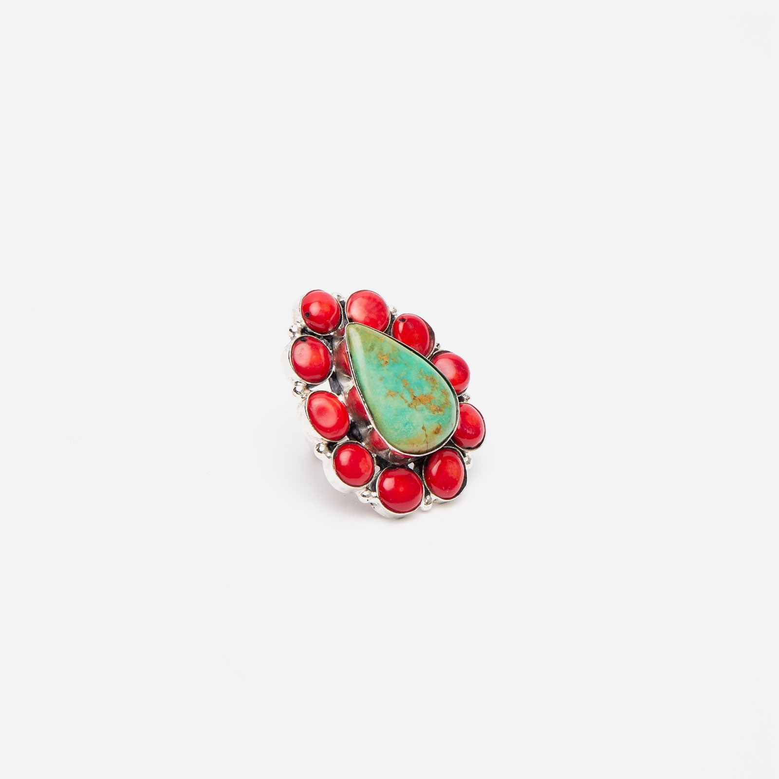 Satara Turquoise Coral Cluster Ring - Frances Valentine