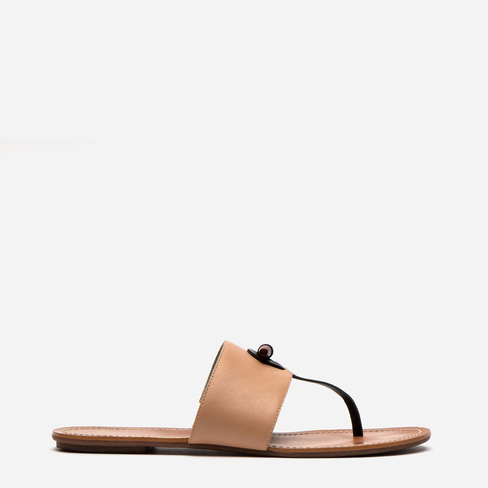Toggle Vachetta Sandal Natural - Frances Valentine
