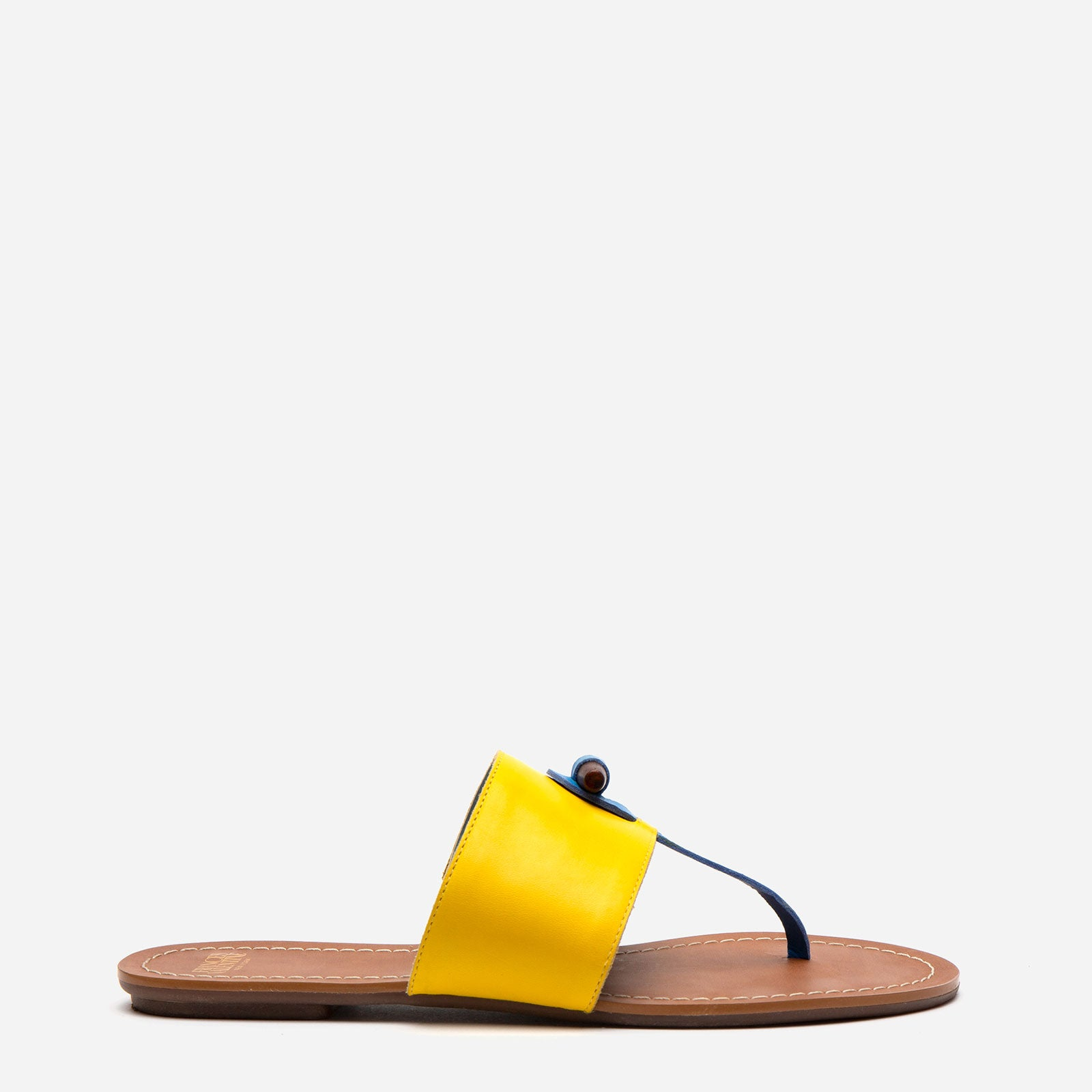 Toggle Leather Sandal Yellow - Frances Valentine