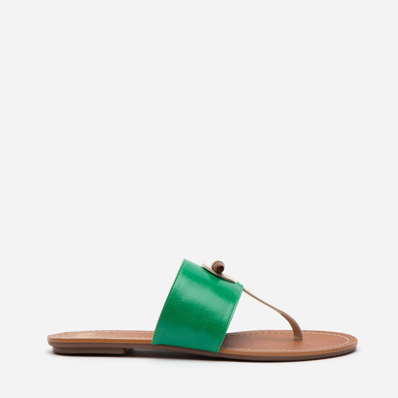 Toggle Slide Naplak Leather Green Oyster
