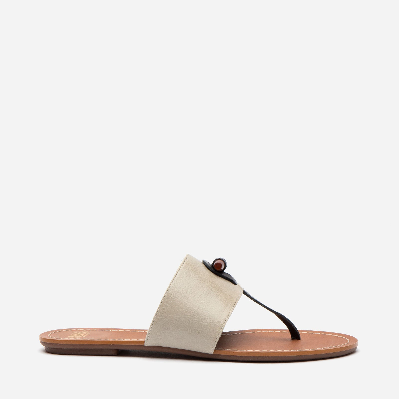 Toggle Slide Naplak Leather Oyster Black
