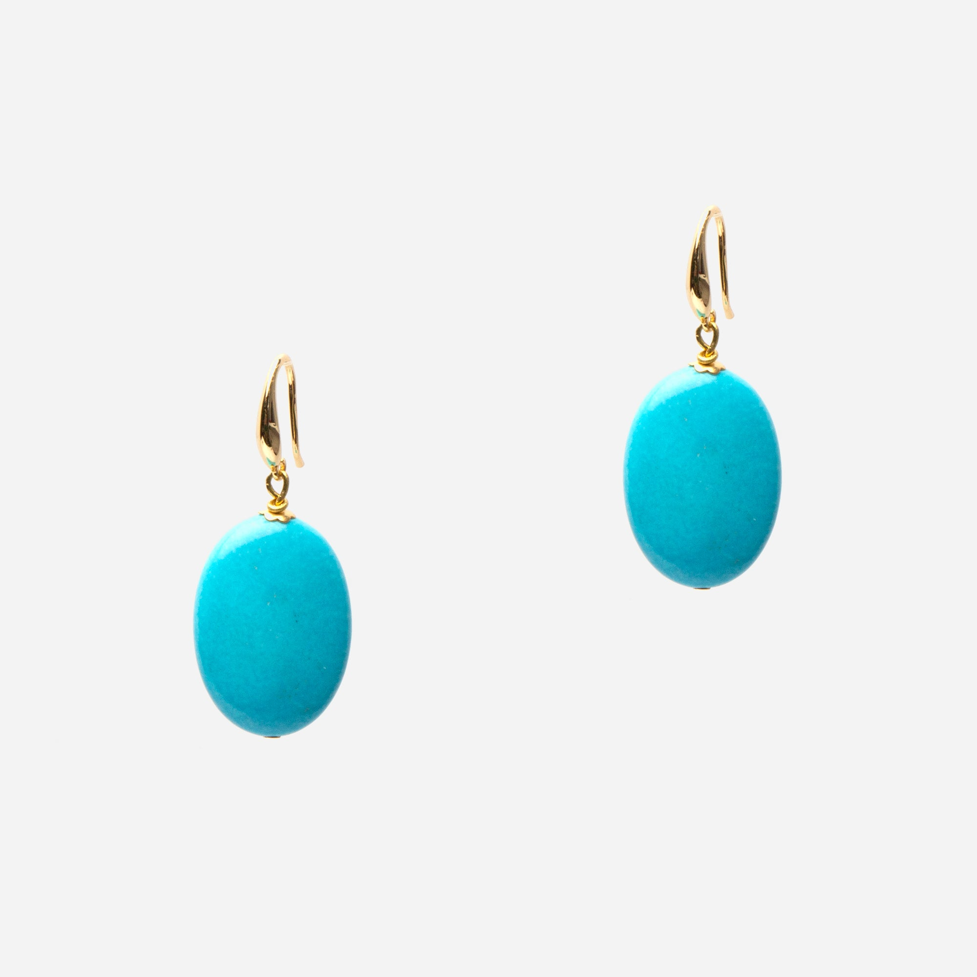 Turquoise Buoy Earrings