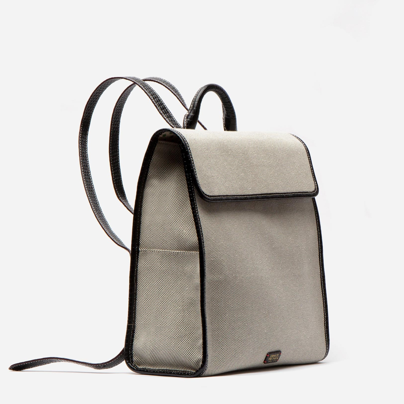 Trey Backpack Salt and Pepper Canvas Black
