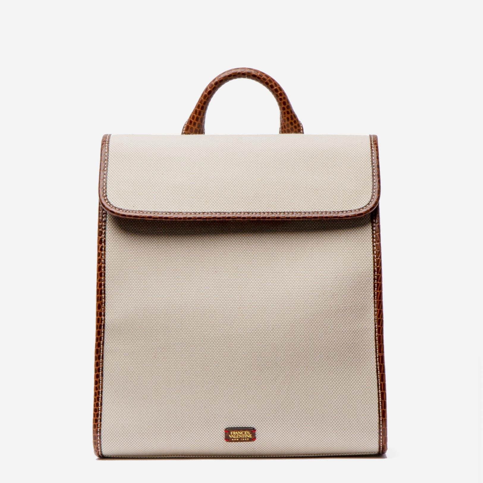 Trey Backpack Salt and Pepper Canvas Natural Luggage - Frances Valentine