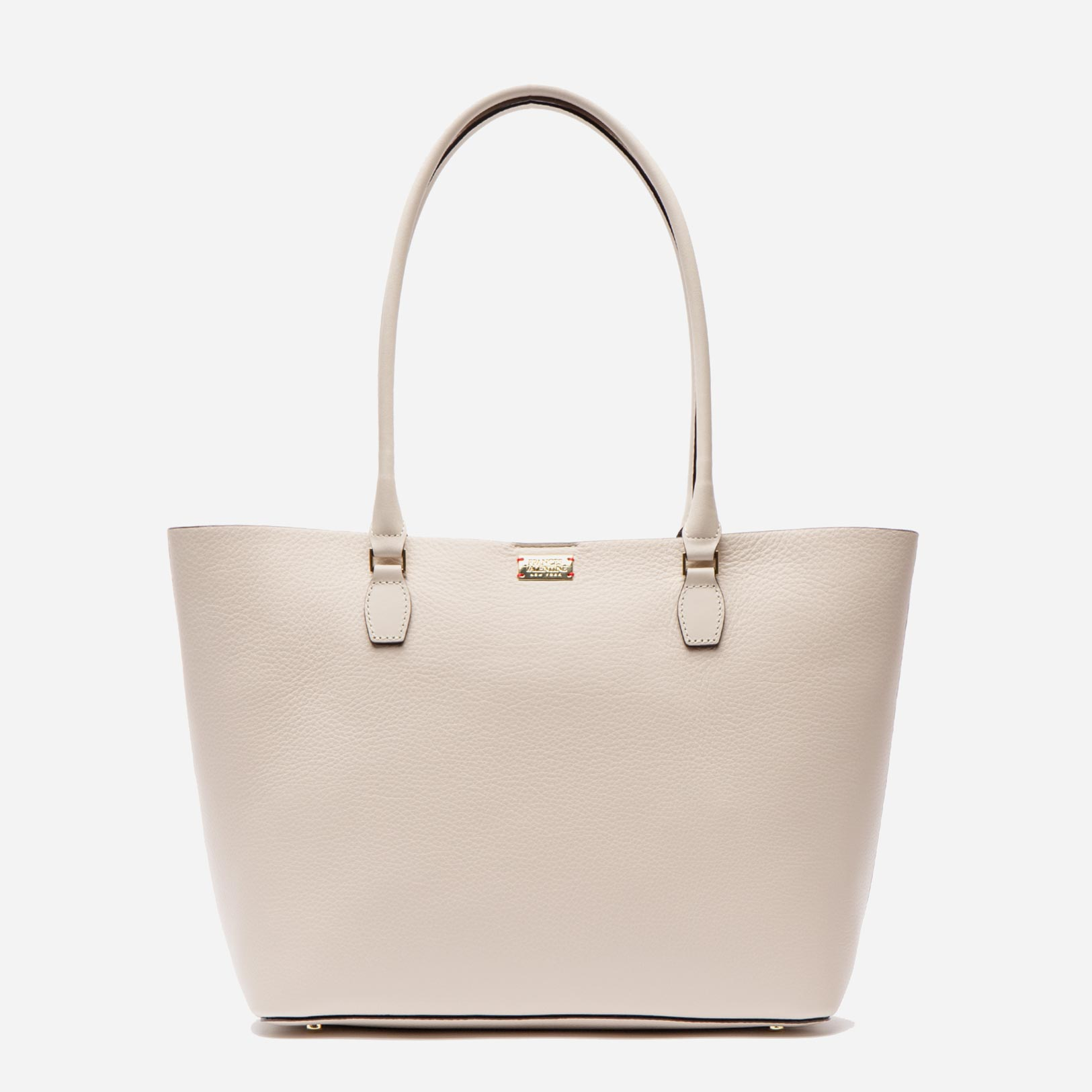 Medium Trixie Tumbled Leather Tote Oyster - Frances Valentine