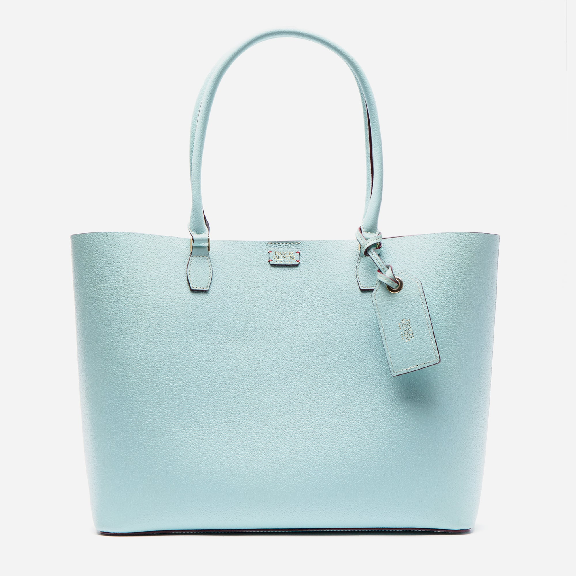 Trixie Tote Boarskin Light Blue - Frances Valentine
