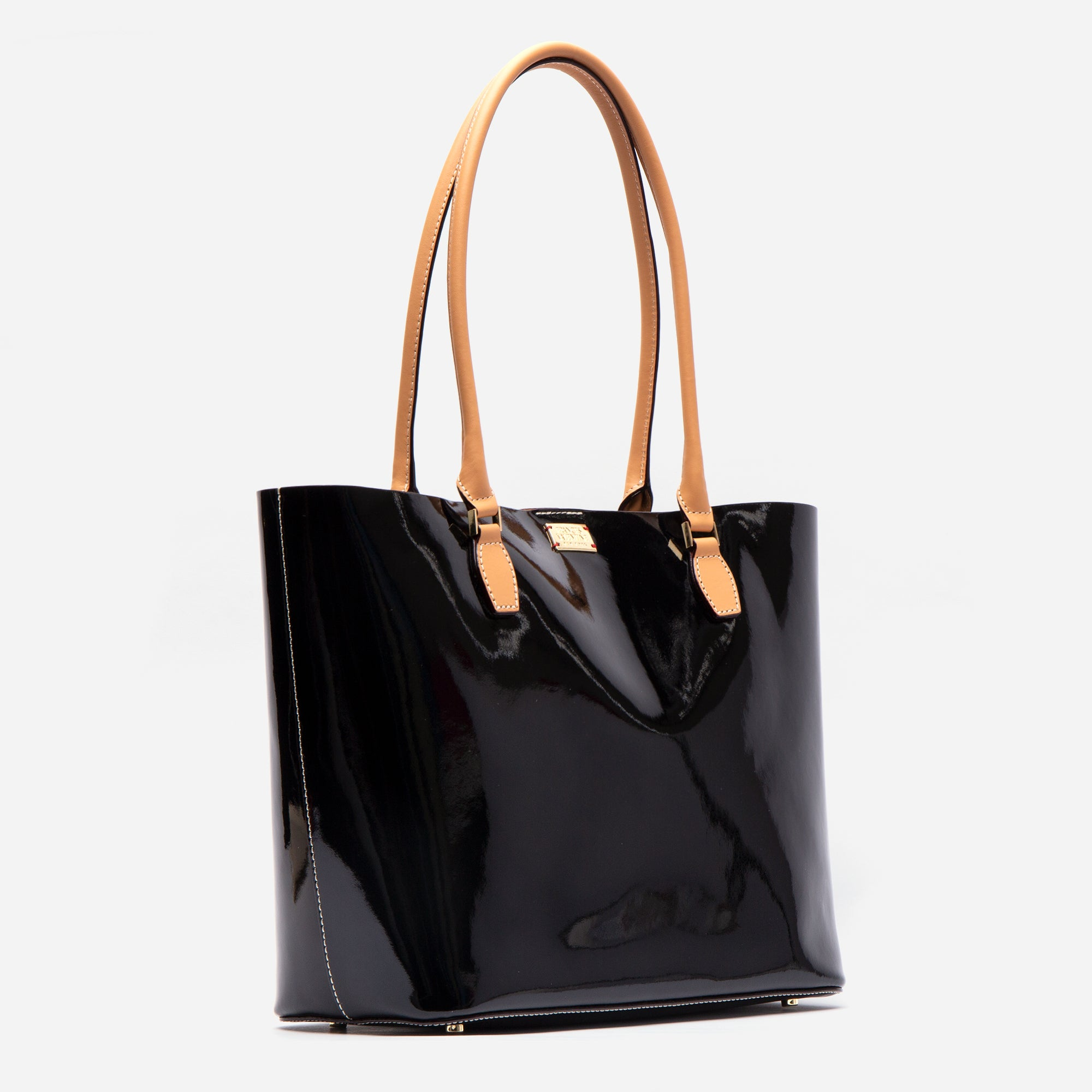Medium Trixie Tote Soft Patent Black