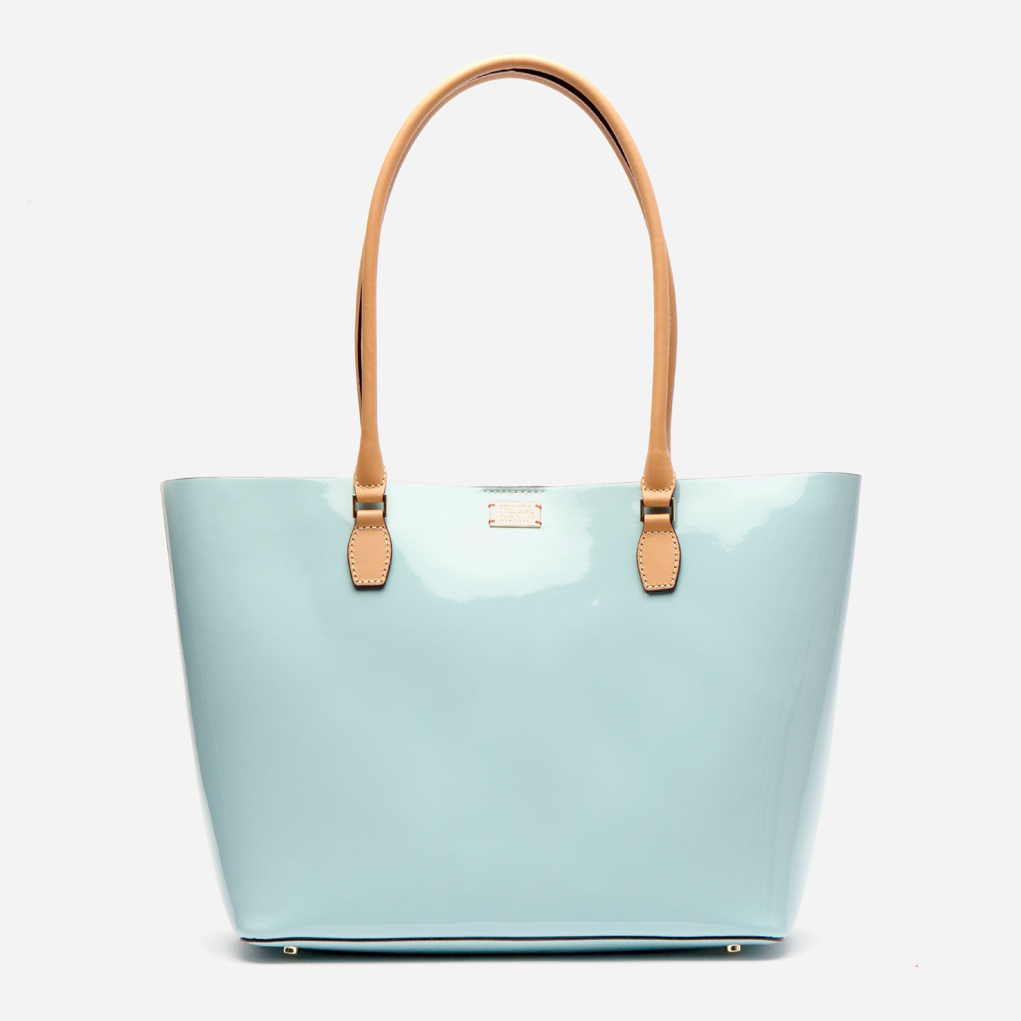 Medium Trixie Tote Soft Patent Light Blue