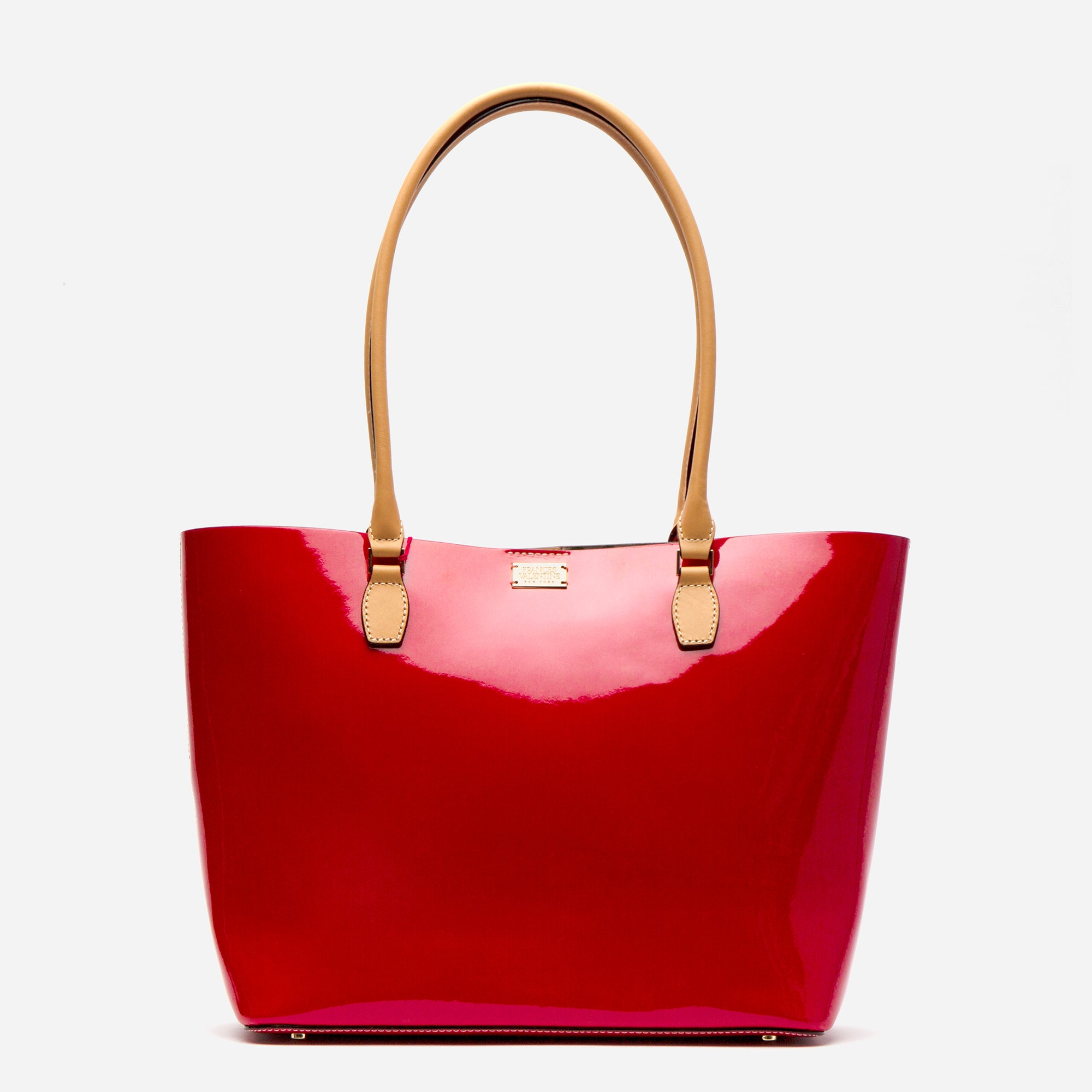 Medium Trixie Tote Soft Patent Red