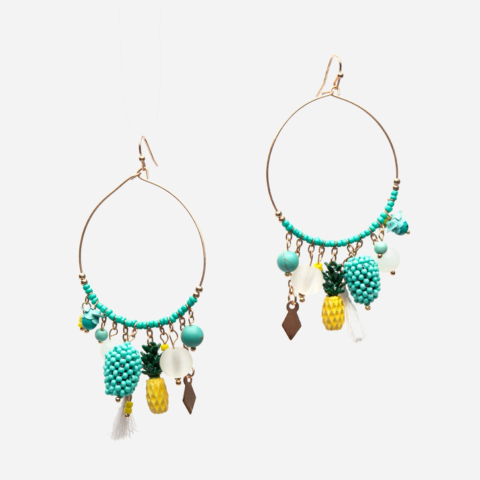 Tropical Hoop Earrings