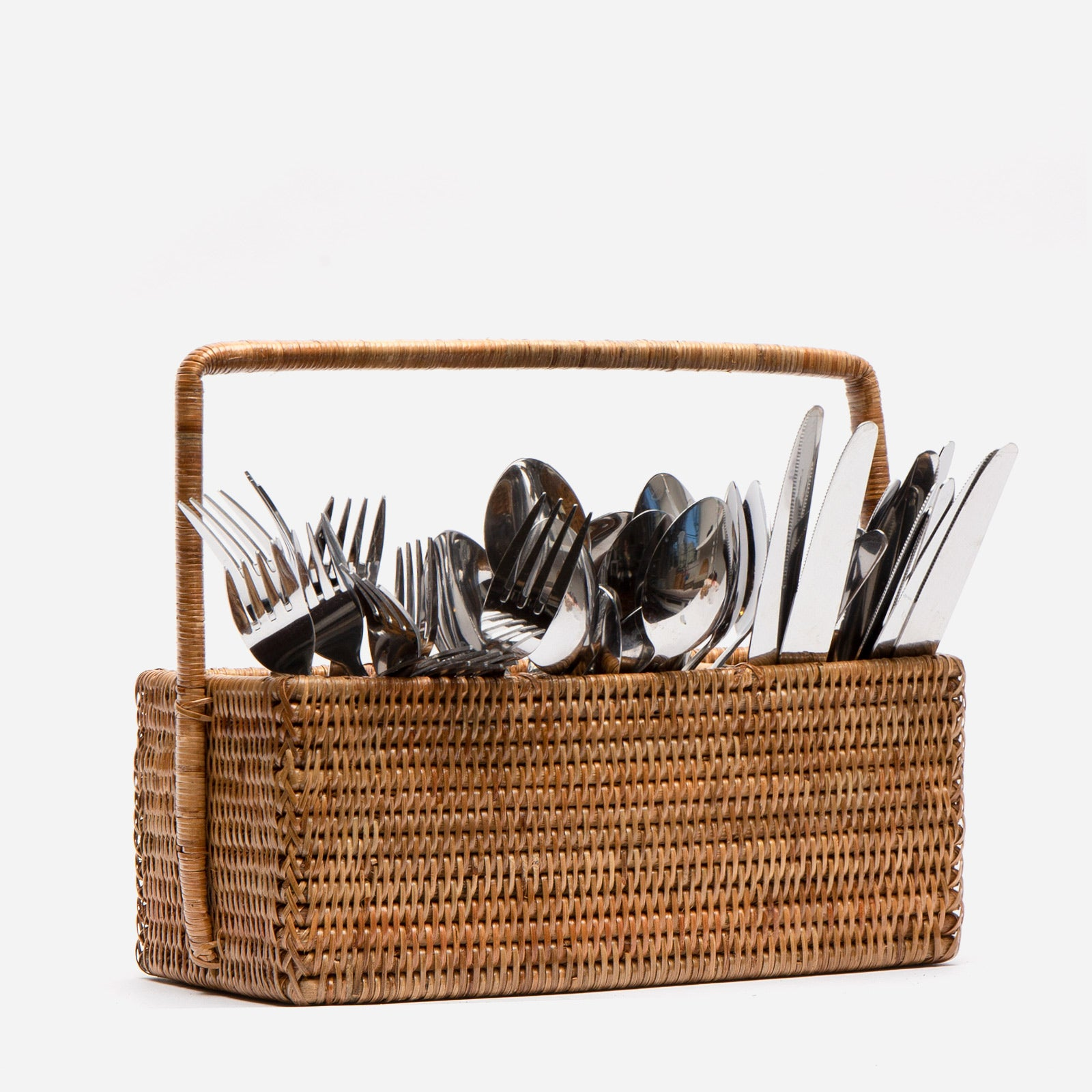 Rattan Cutlery Holder