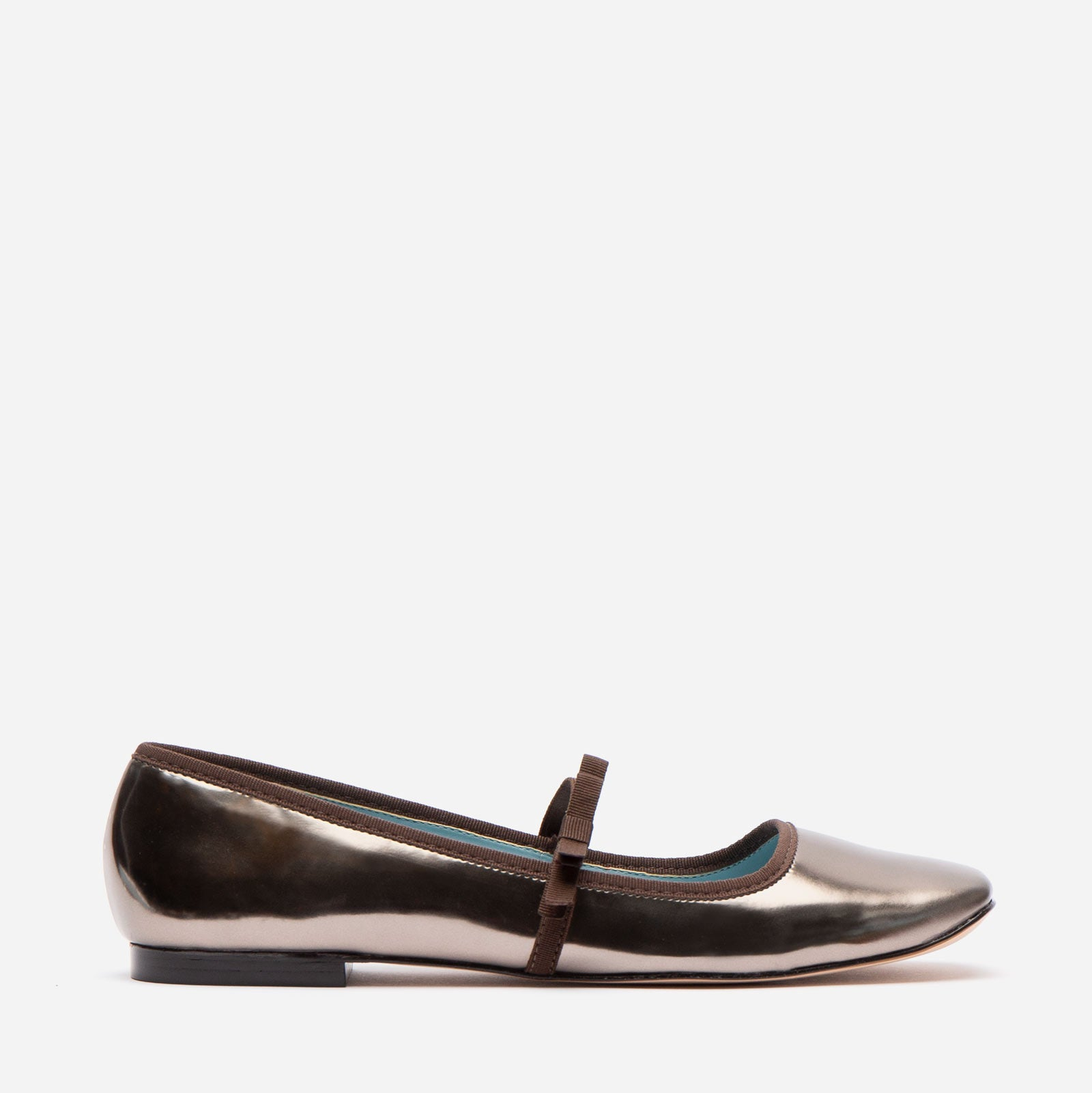 Jude Mary Jane Vegan Leather Flat Anthracite - Frances Valentine